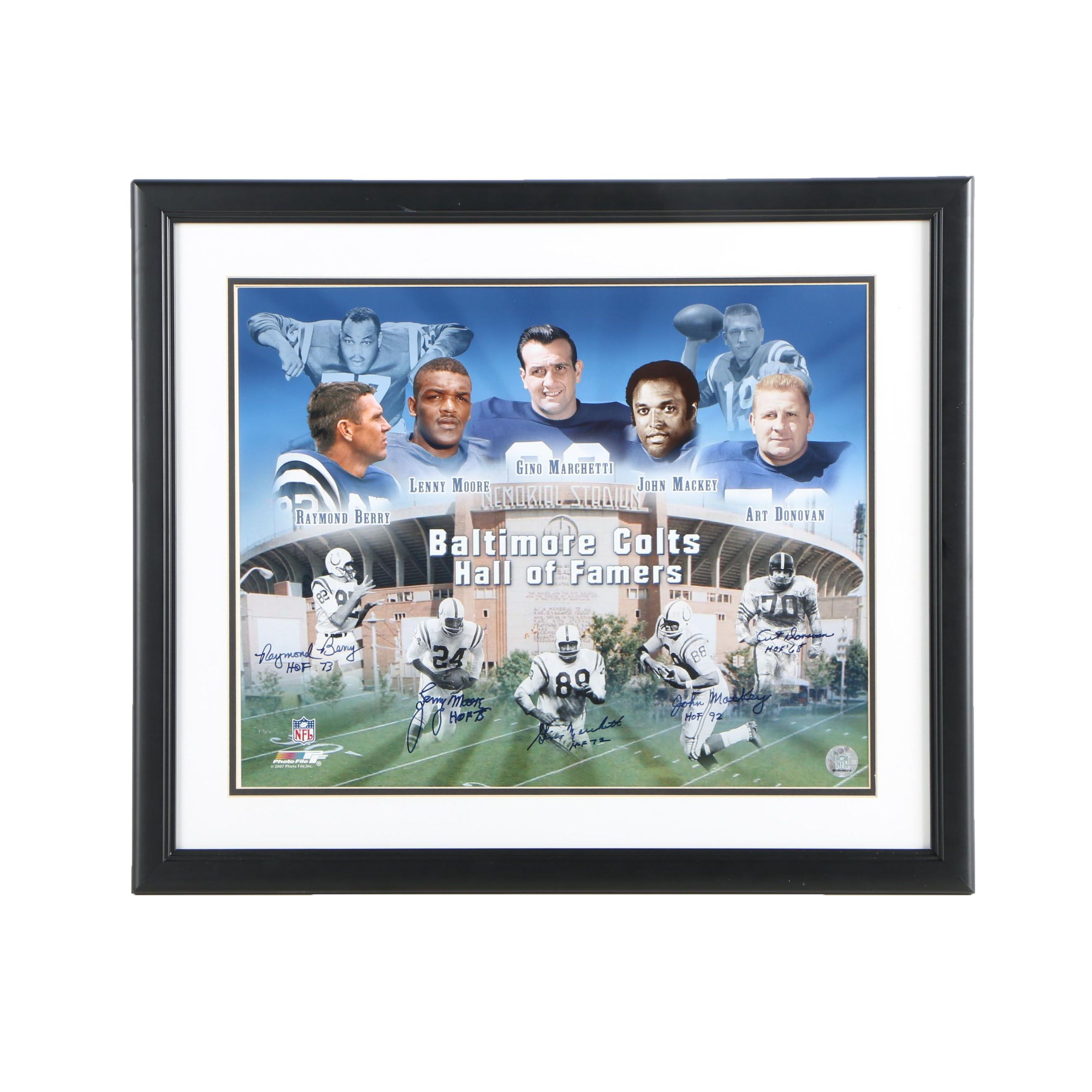 Autographed Digital Photograph of Baltimore Colts Hall of Famers
