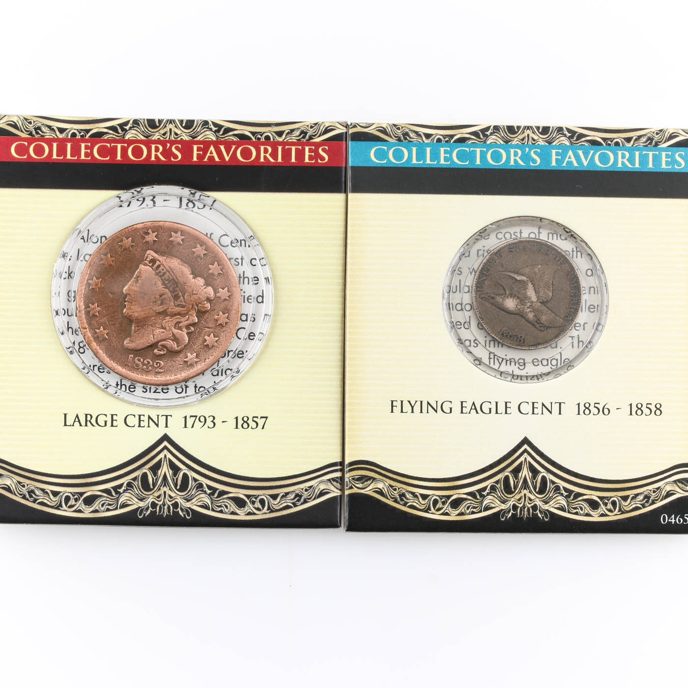 Two U.S. Cents including an 1832 Large cent and an 1858 Flying Eagle