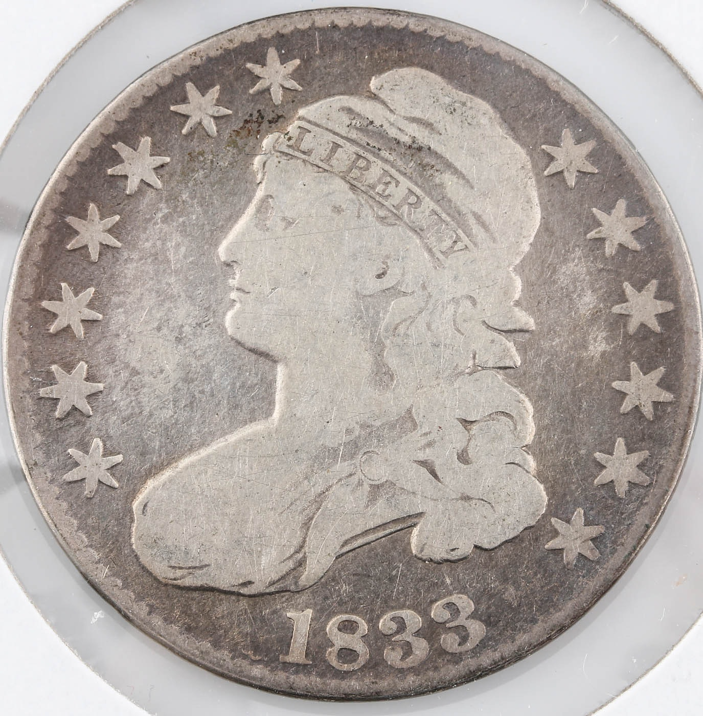 1833 Capped Bust Silver Half Dollar