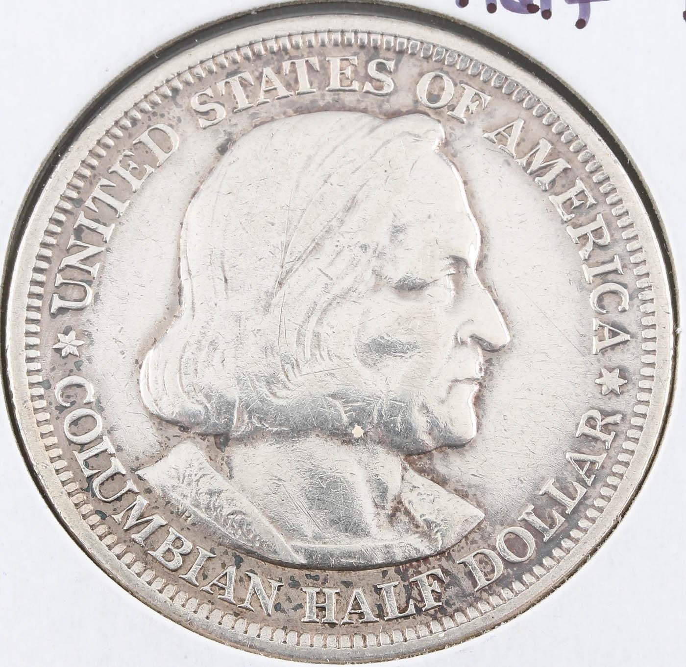 1893 Columbian Exposition Silver Half Dollar