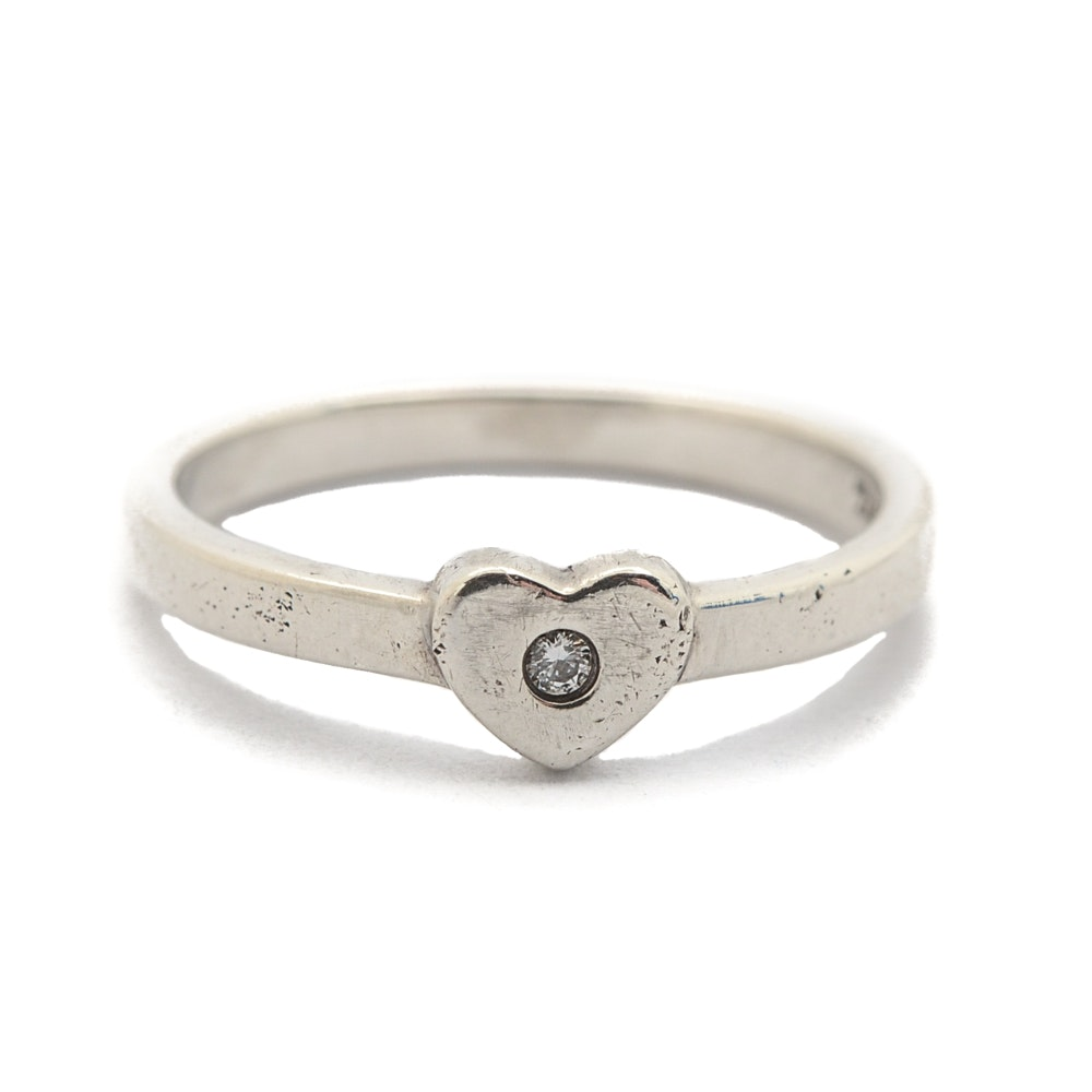 Tiffany & Co. Paloma Picasso Sterling Silver Diamond Crown of Hearts Ring