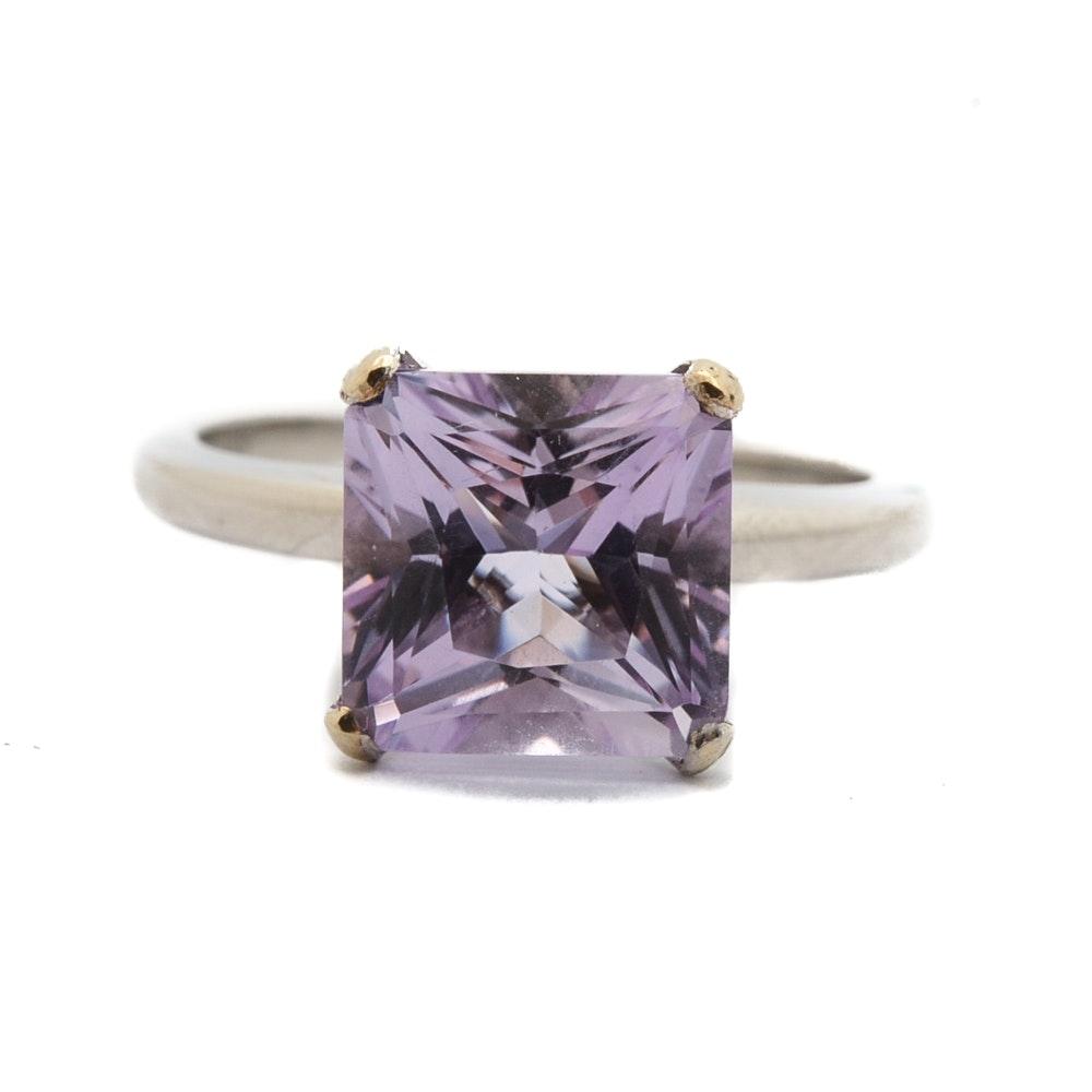 Iridium and Platinum Amethyst Ring
