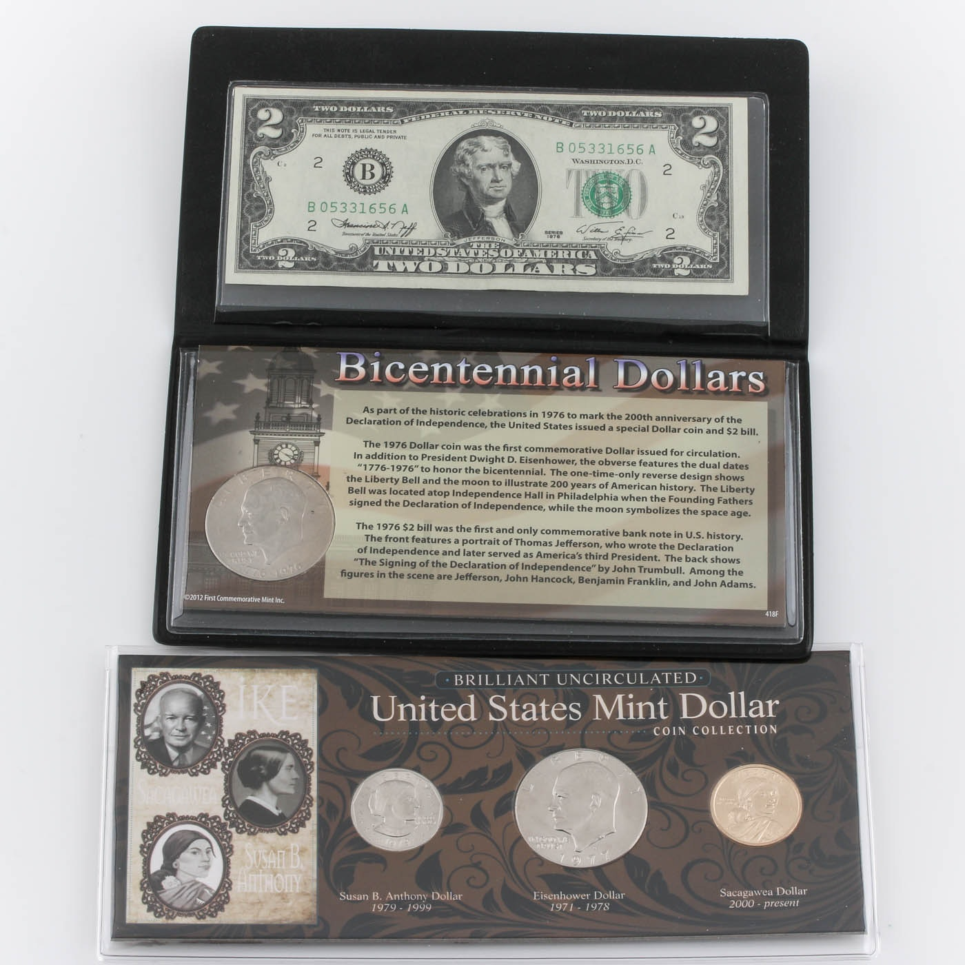 Bicentennial Dollar Set and a United States Mint Dollar Coin Collection