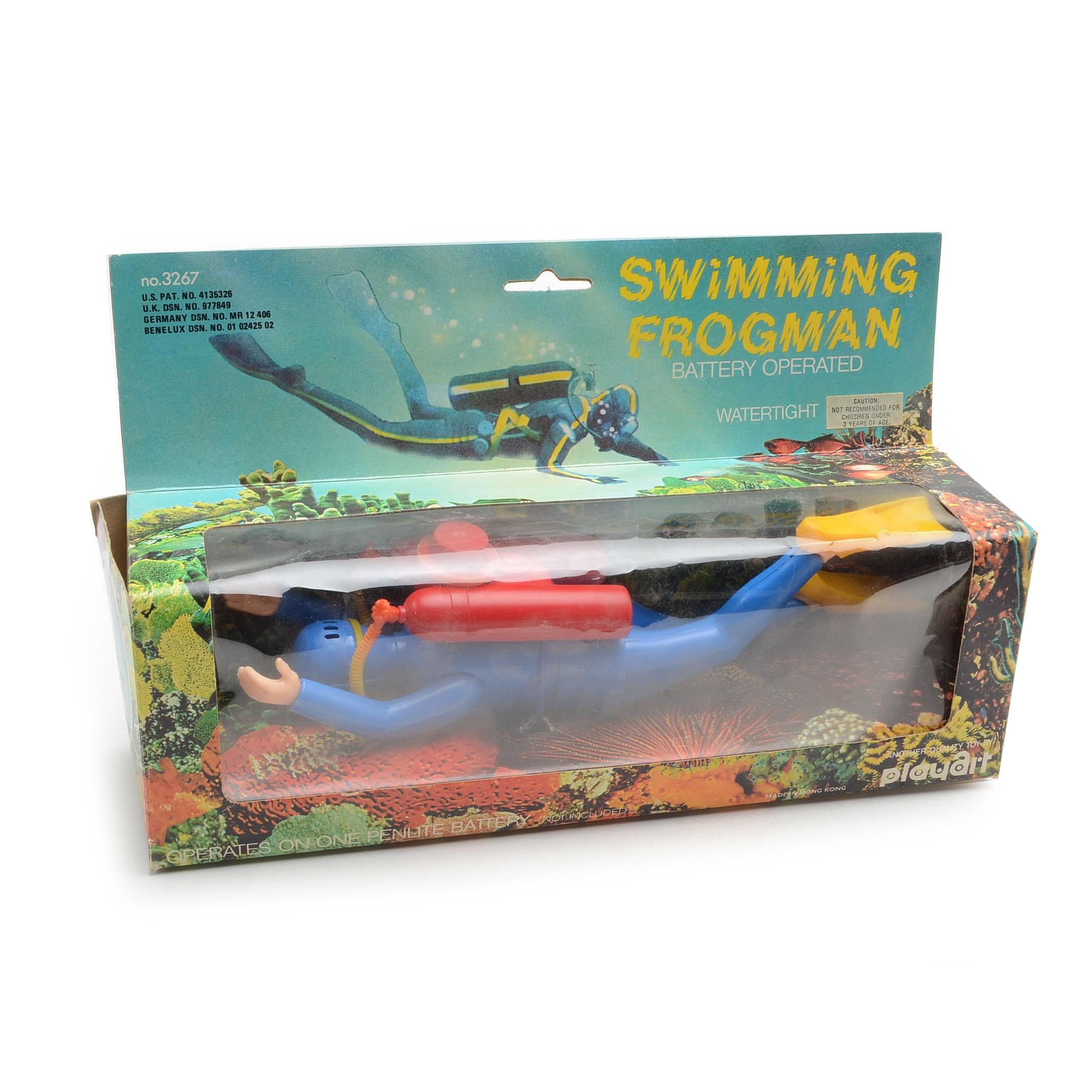Vintage Swimming Frogman Toy