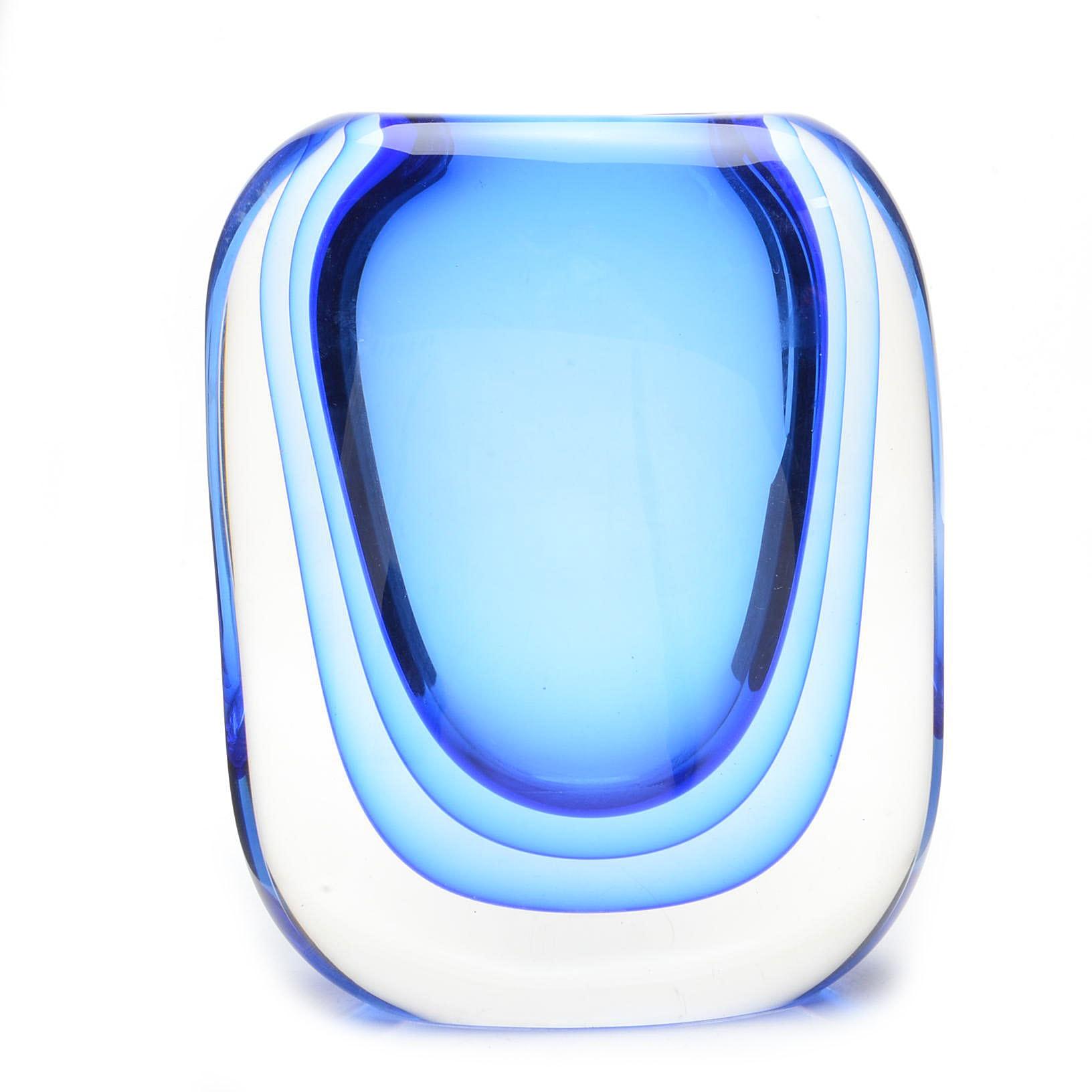 Murano Sommerso Crystal Vase