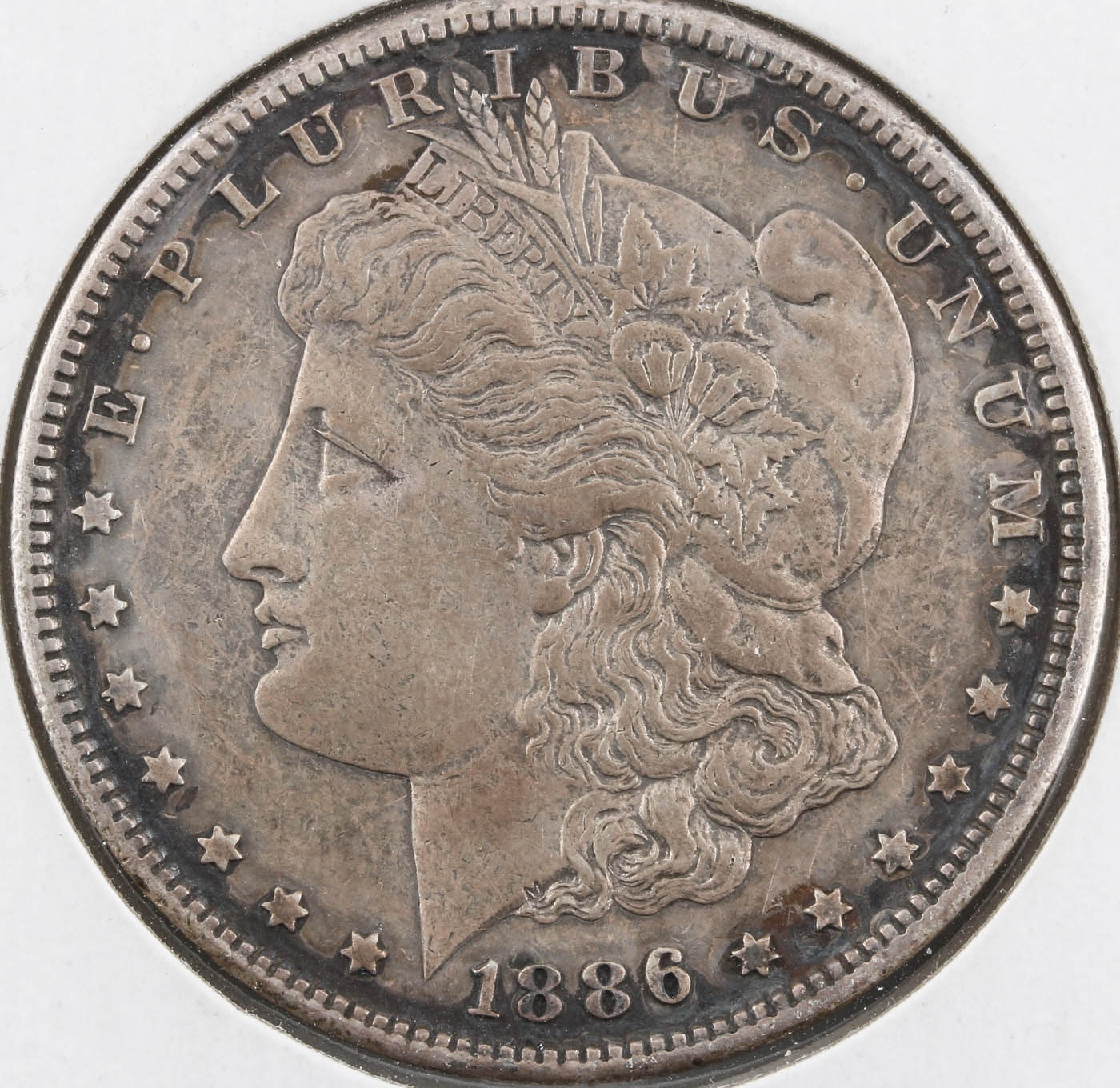 Low Mintage 1886-S Silver Morgan Dollar