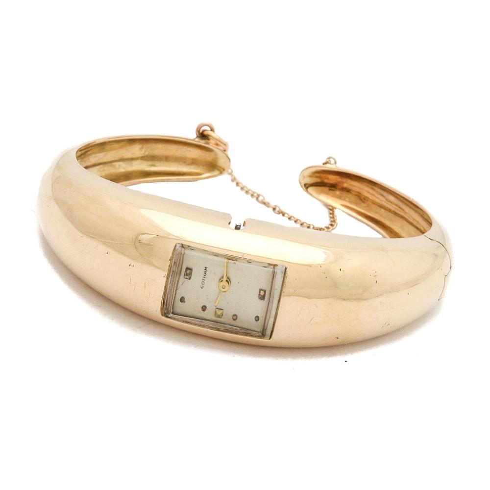 14K Yellow Gold Gotham Cuff Wristwatch