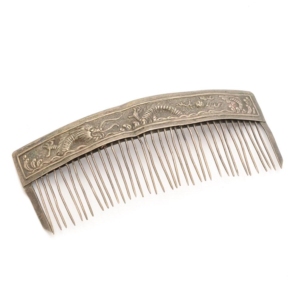 Antique Chinese Dragon Hair Comb