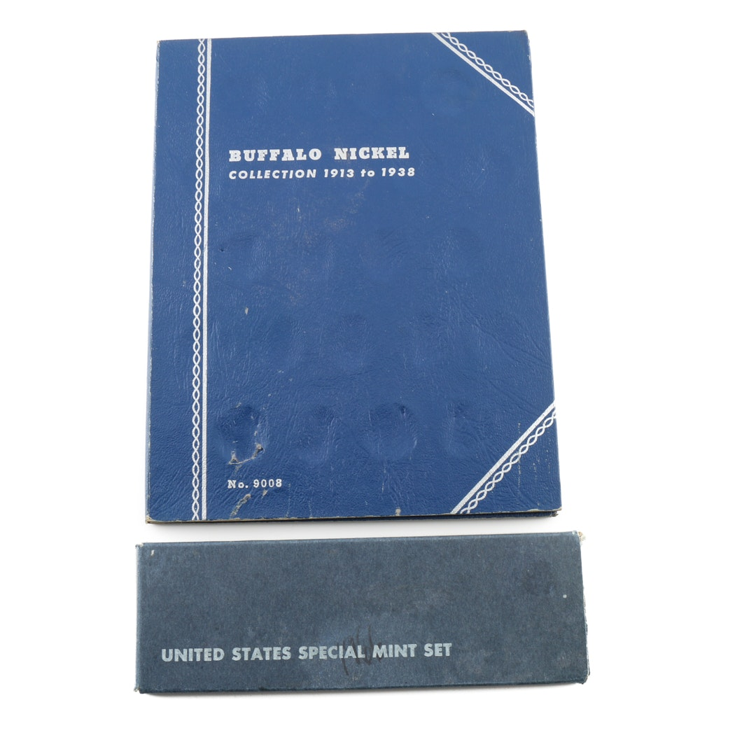 Whitman Binder of Buffalo Nickels and a 1966 Special Mint Set