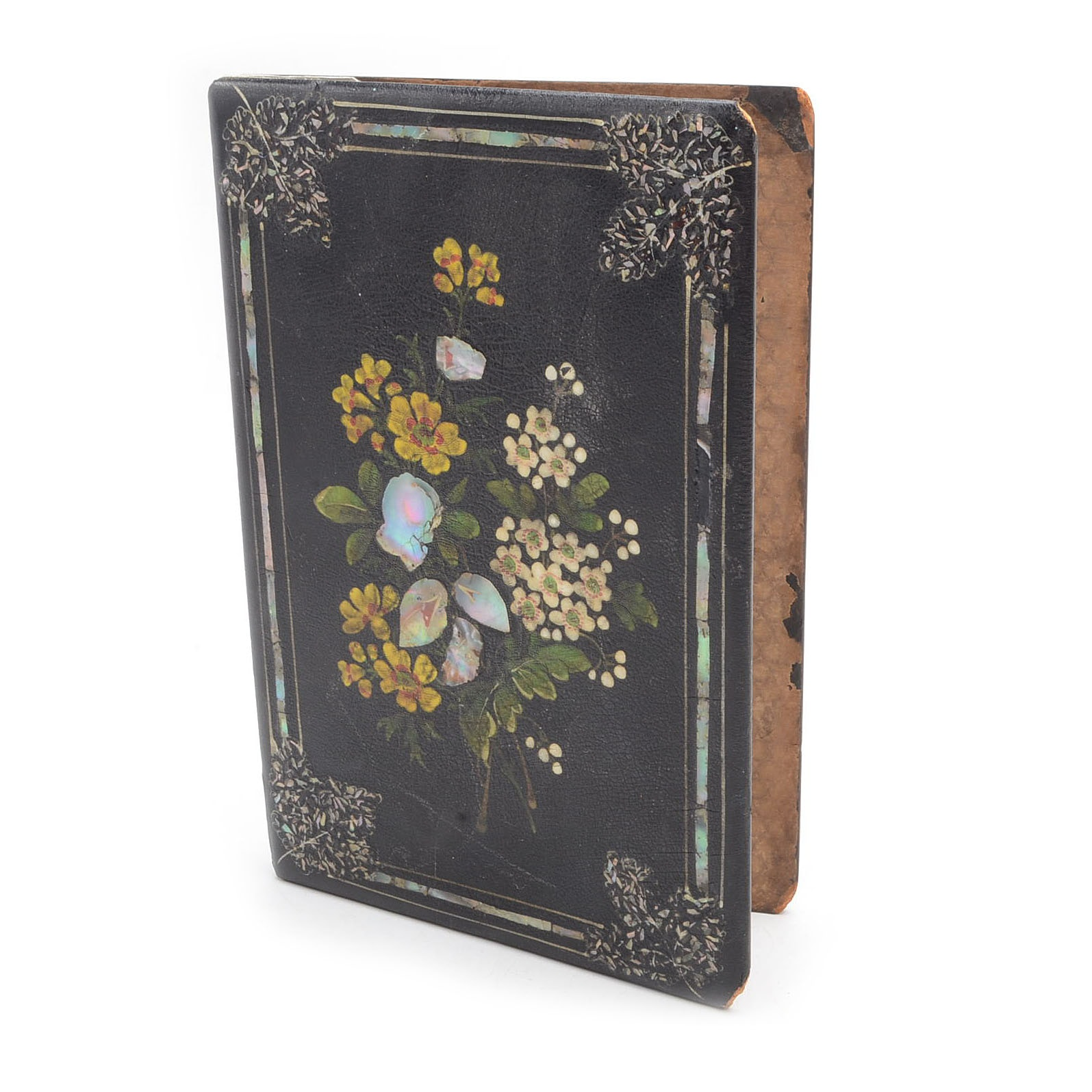 Vintage Book Cover with Mother-of-Pearl Inlay