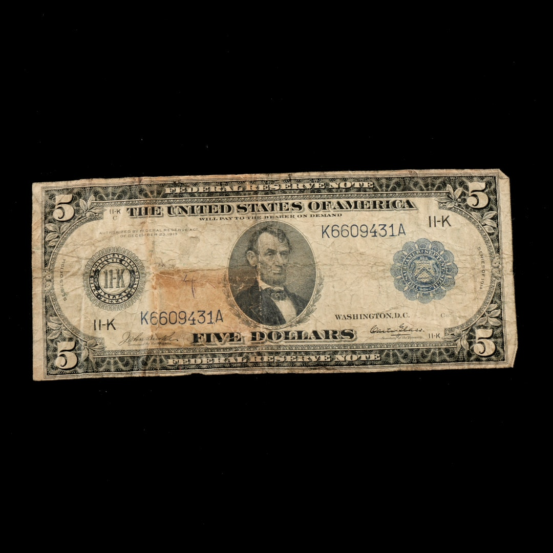 Series of 1914 $5 Federal Reserve Note