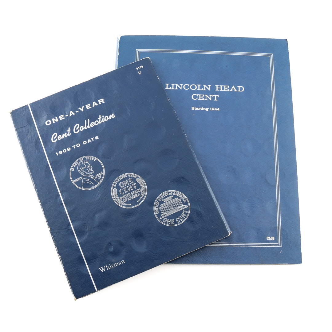 Two Binders of Lincoln Cents