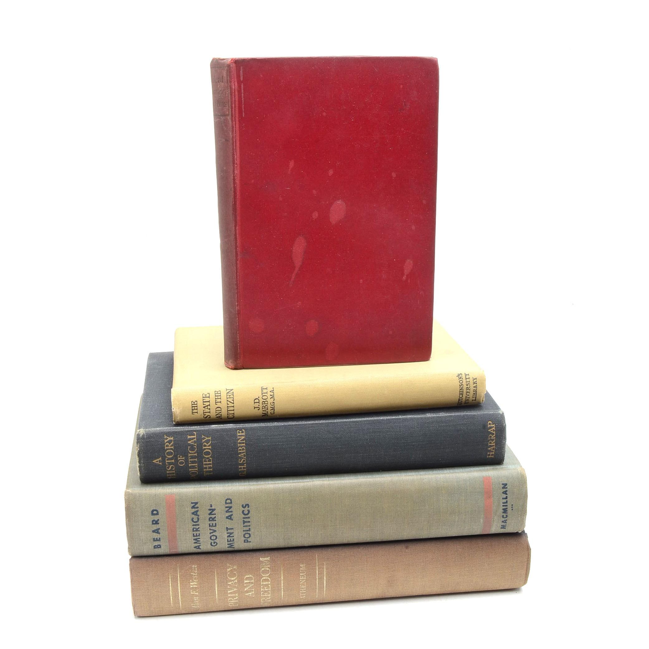 Vintage Political Science Books