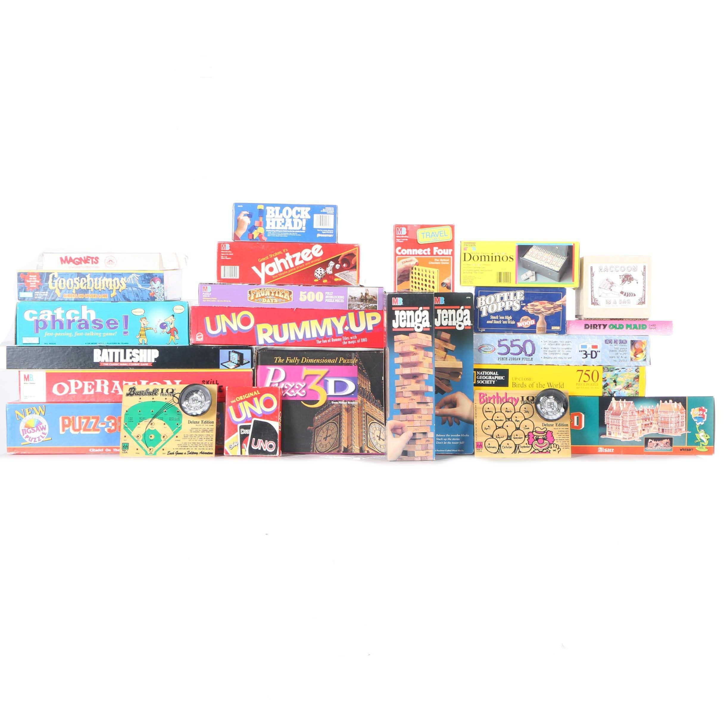 Assortment of Board Games and Puzzles