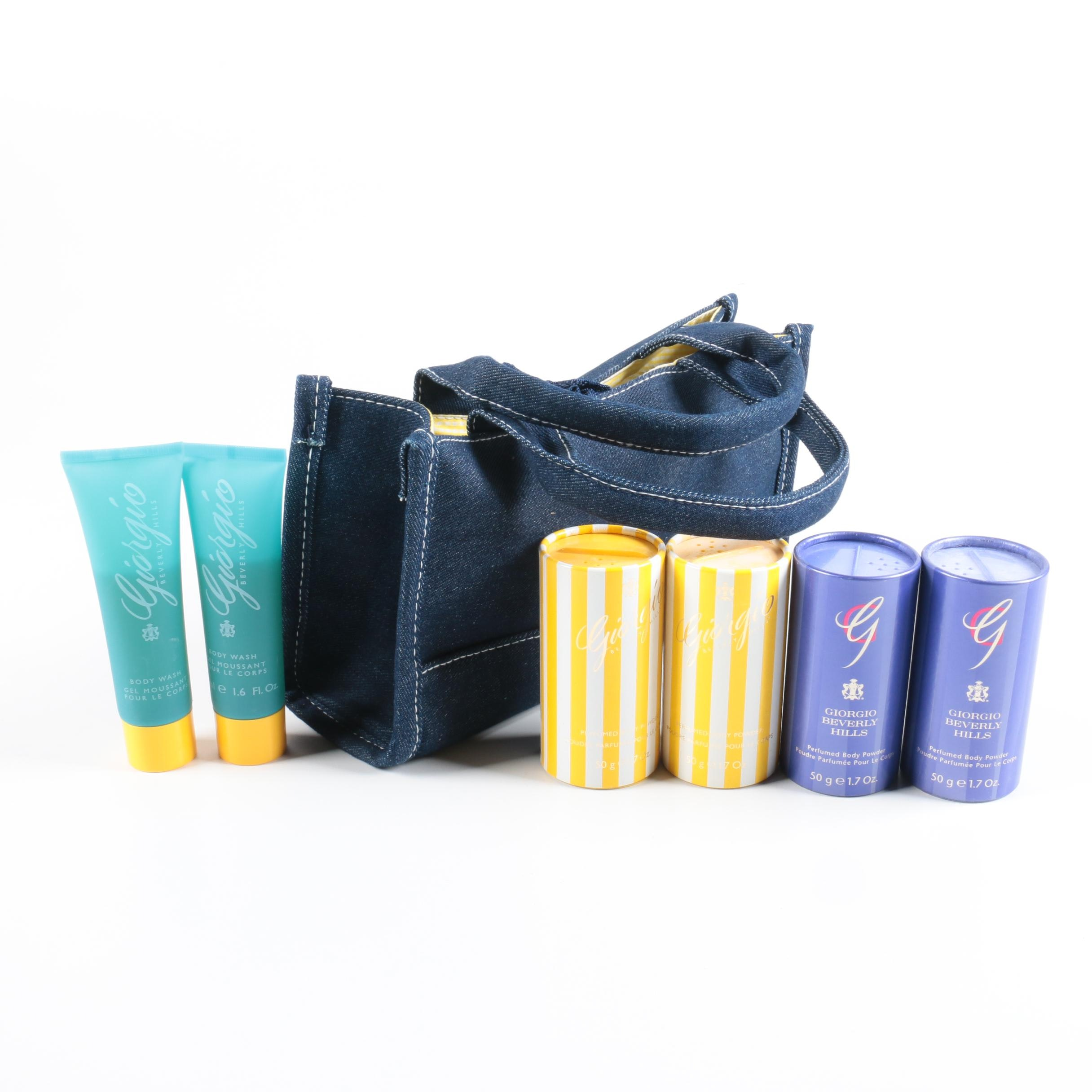 Giorgio Beverly Hills Gift Bag with Beauty Supplies