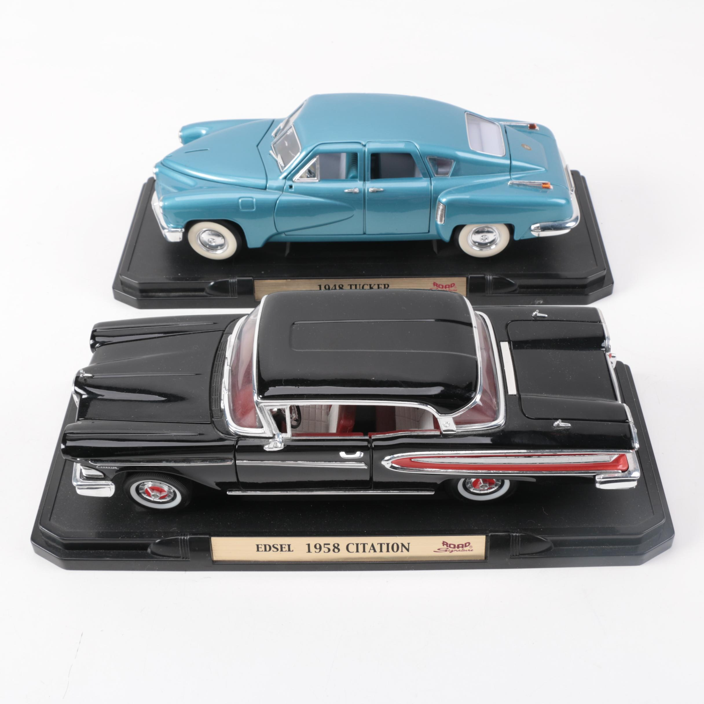 Die-Cast Tucker and Edsel Cars by Road Signature