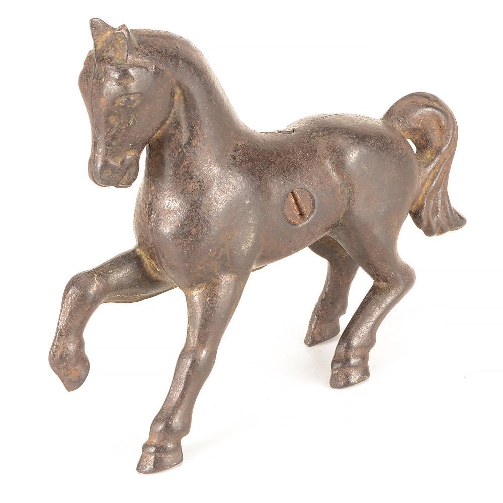 Vintage Cast Iron Horse Still Bank