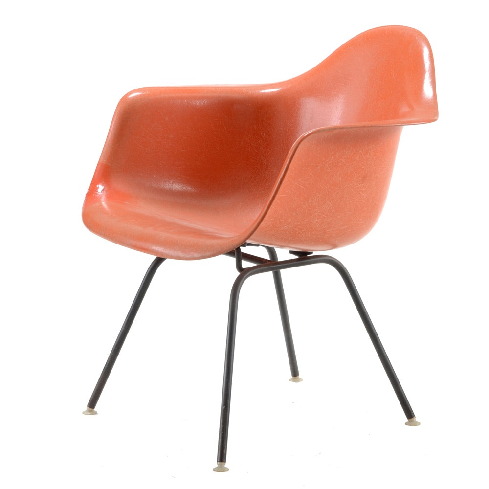 Eames for Herman Miller Orange Molded Chair
