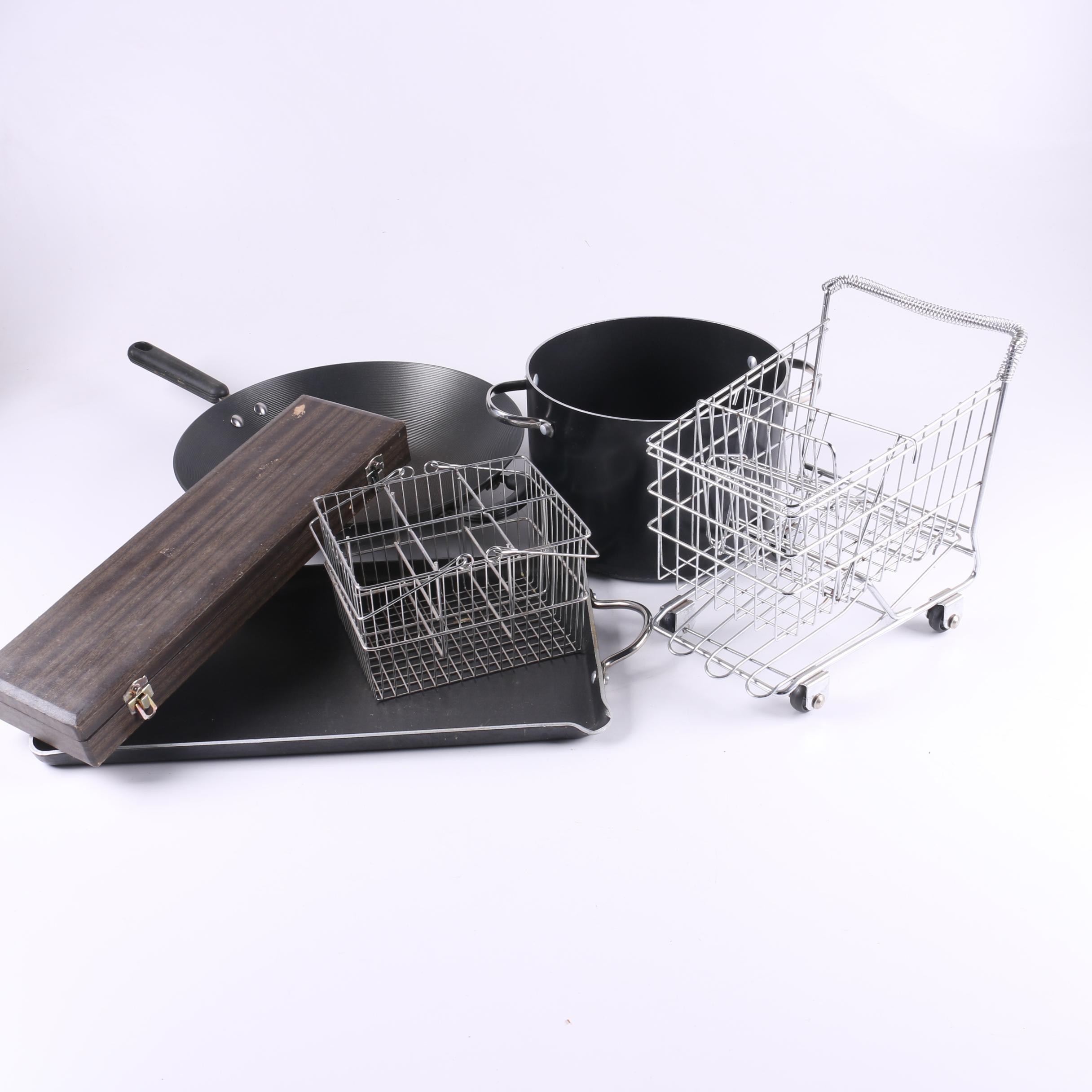Eclectic Kitchenware Assortment Including Faberware Pots