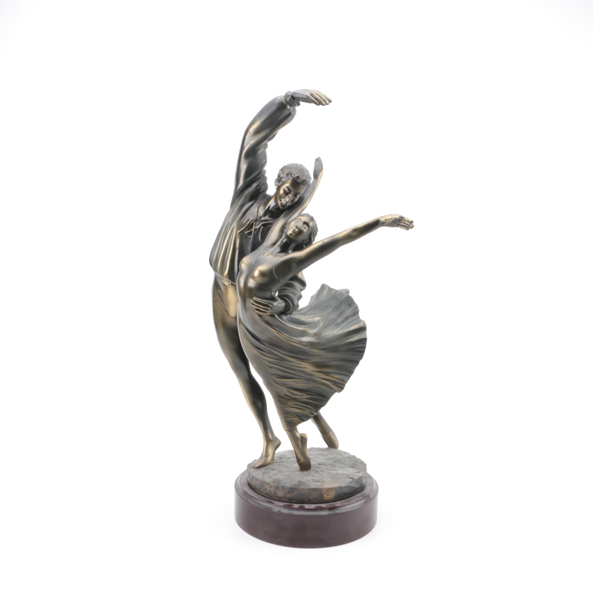 Plaster Sculpture of Dancing Couple