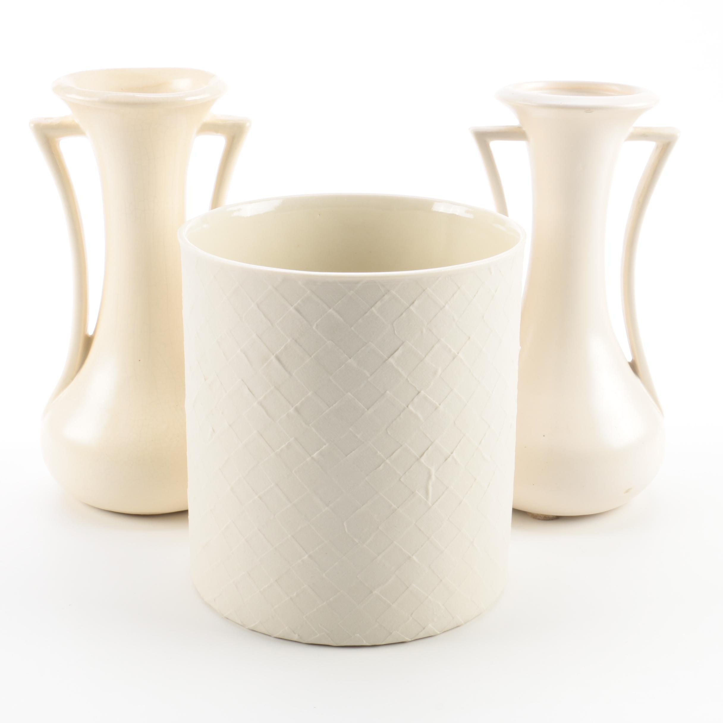 Cream Color Vases