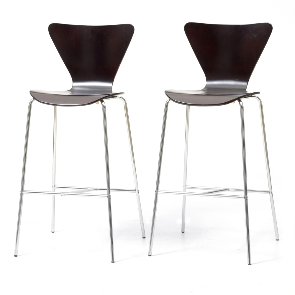 Pair of Modernist Counter Stools