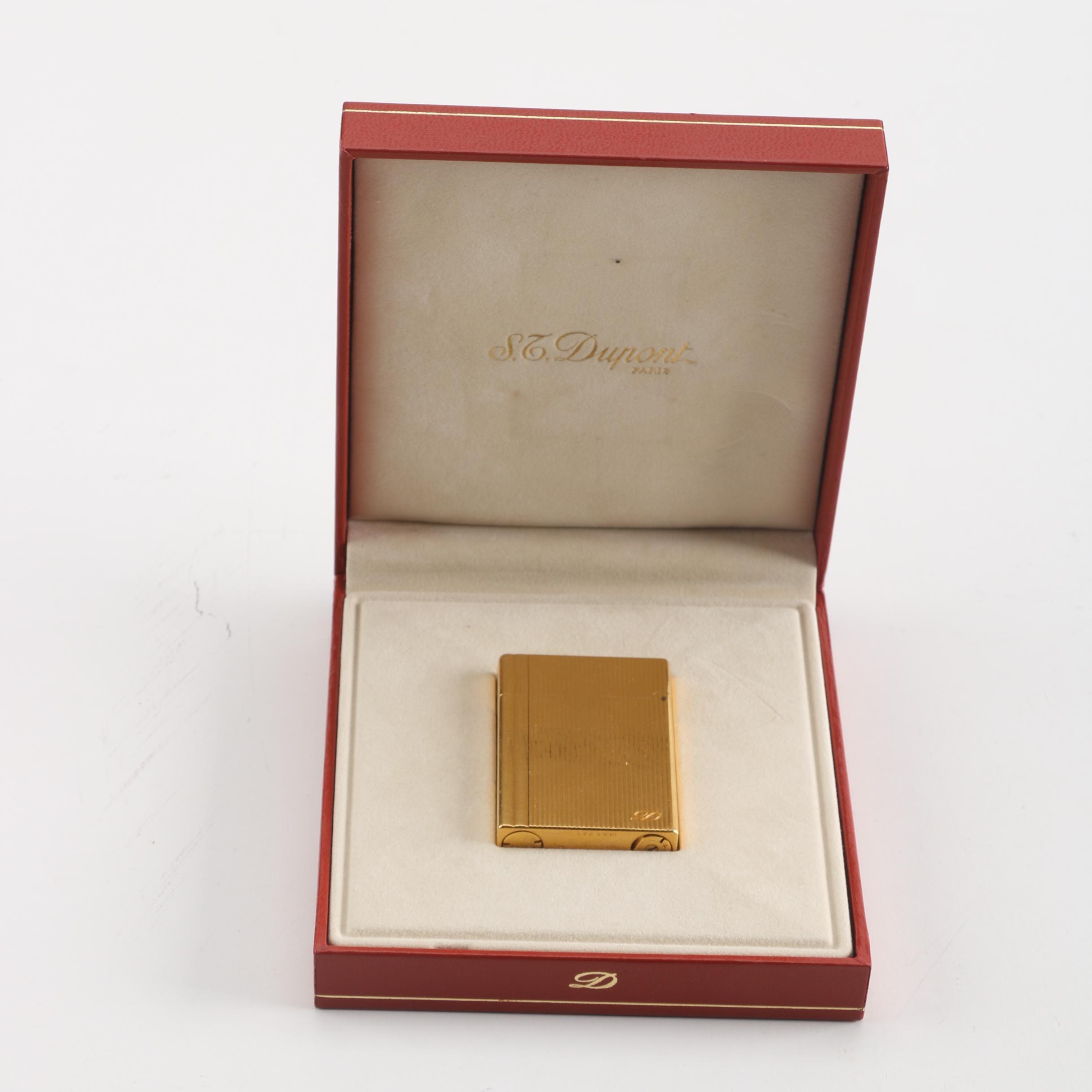 St. Dupont Gold Plated Flip Lighter
