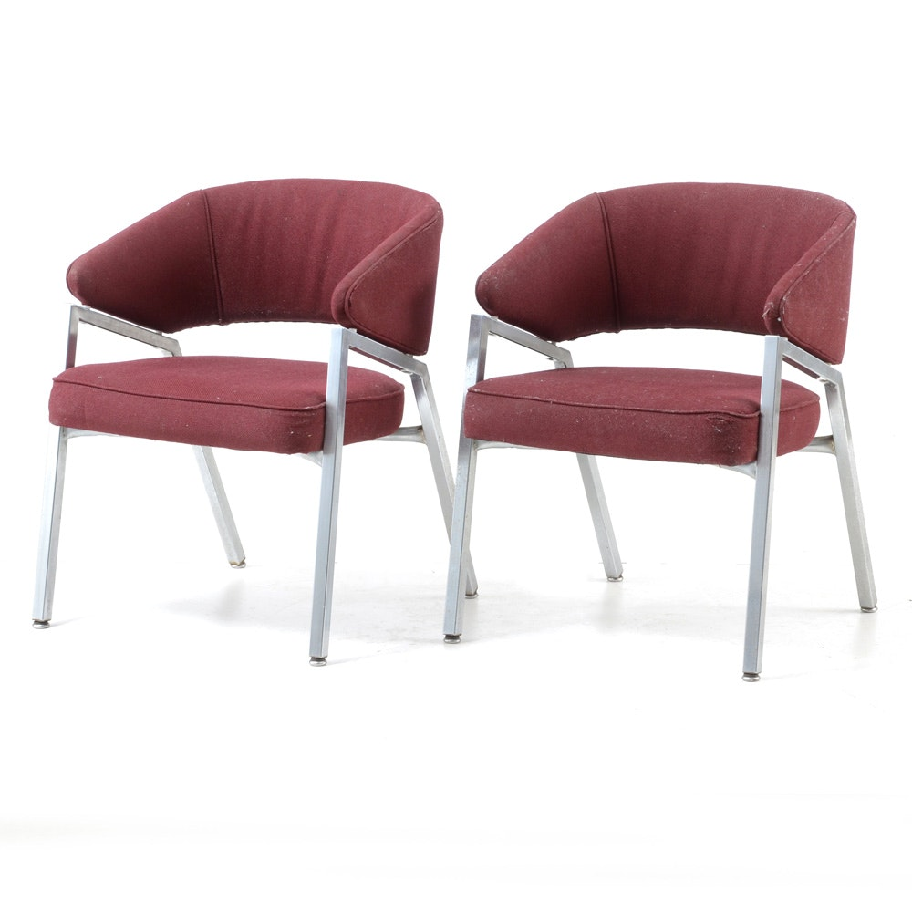 Vintage Mid Century Modern Lounge Chairs by Troy Furniture