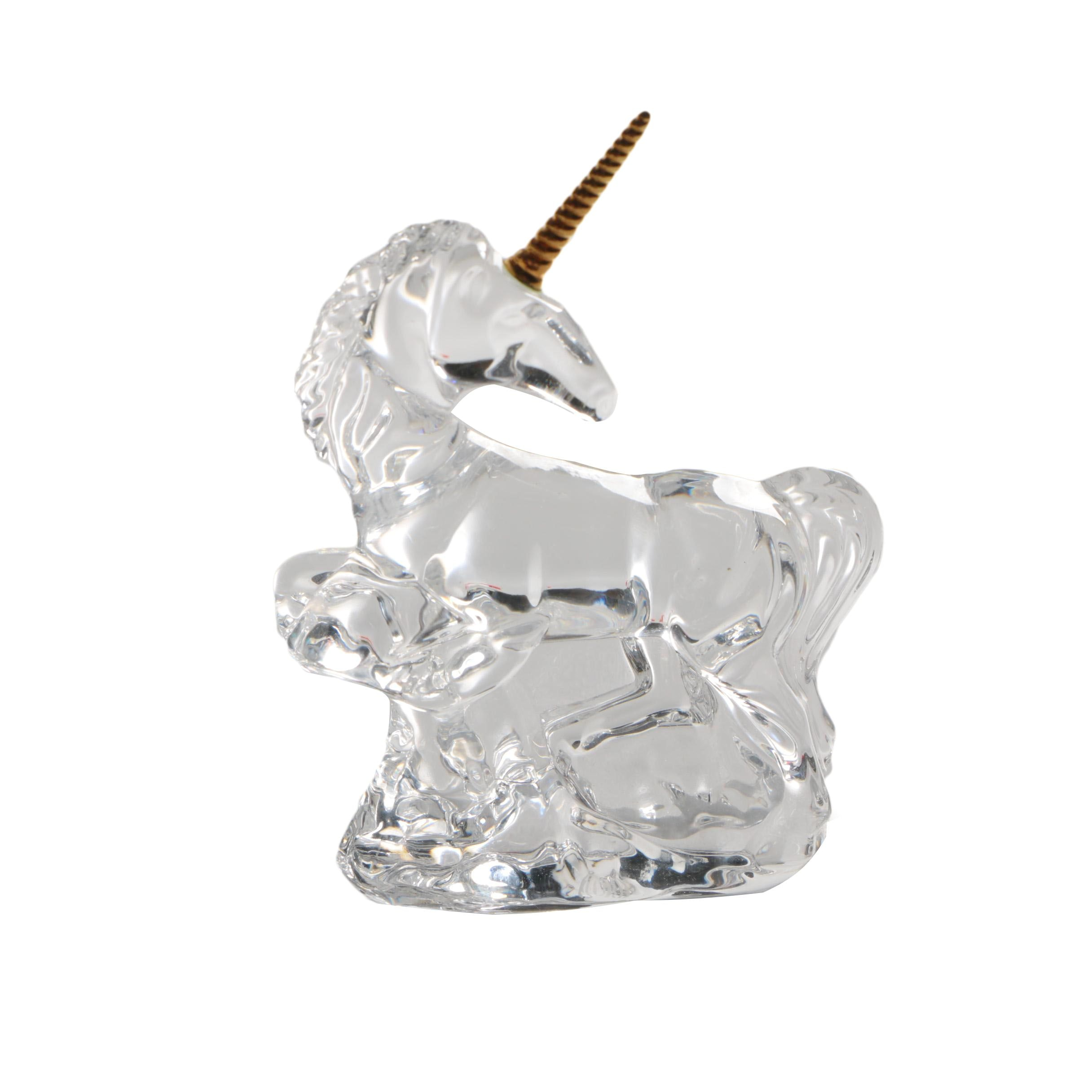 Waterford Crystal Unicorn with Gold Tone Horn