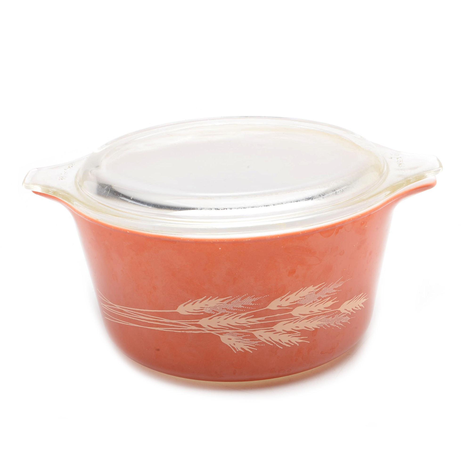 """Vintage Pyrex """"Autumn Harvest"""" Casserole Dish"""