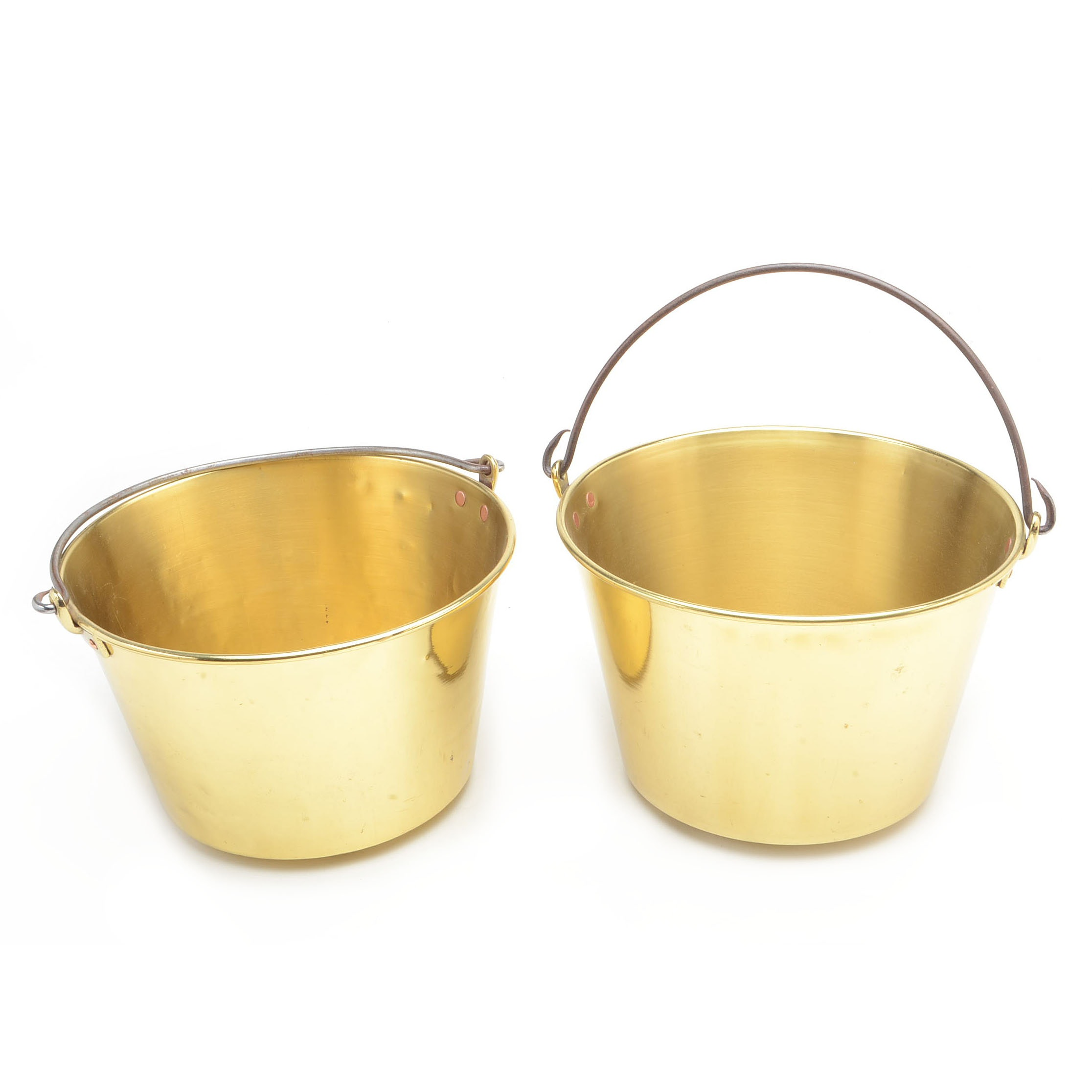 Pair of Lacquered Brass Pots
