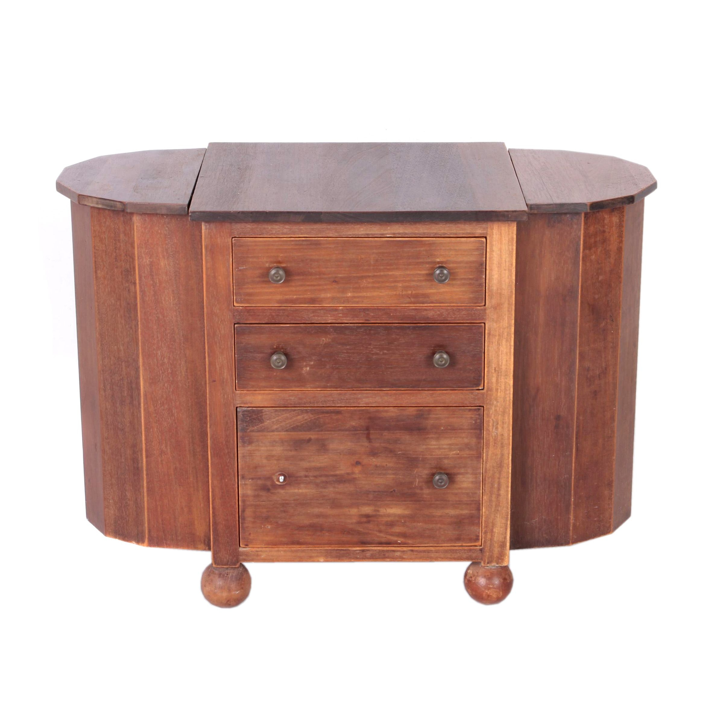 Mid-Century Mahogany End Table