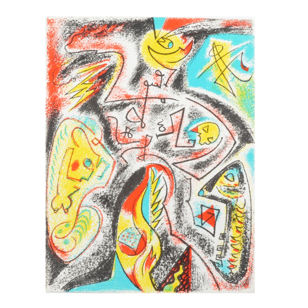 Andre Masson Lithograph Published in XXe Siècle No. 32