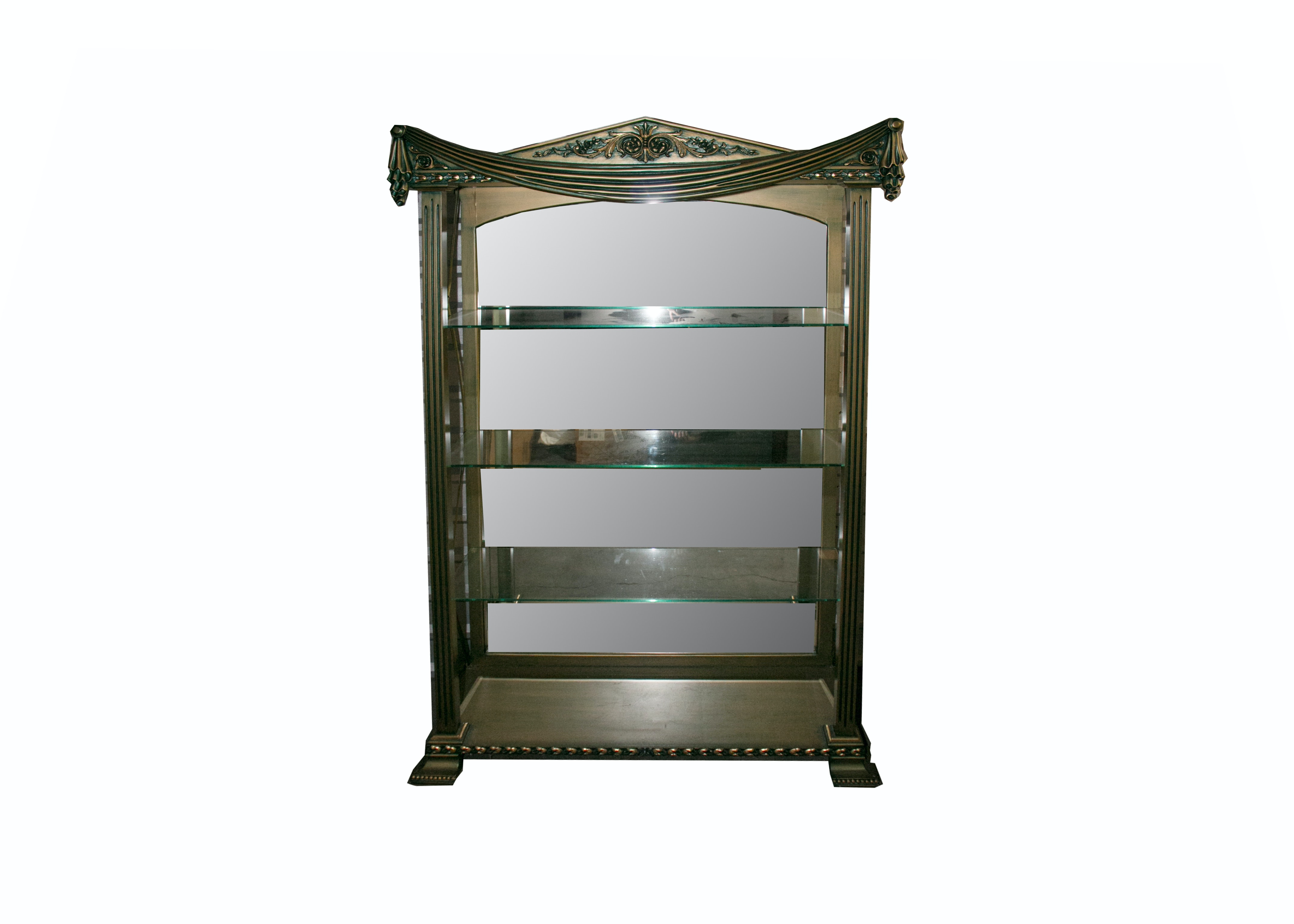 Vintage Neoclassical Style Shelving Unit