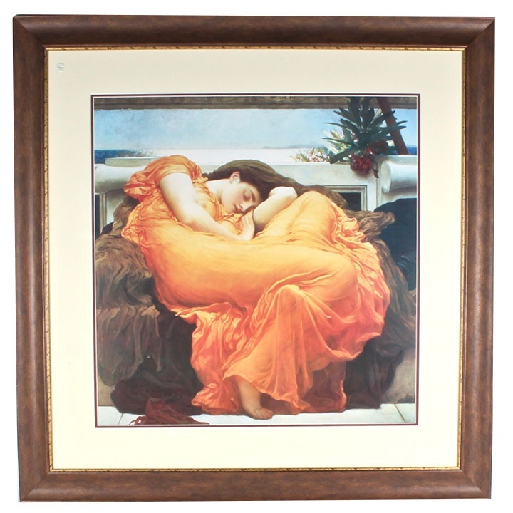 """Frederic Leighton """"Flaming June"""" Framed Offset Lithograph"""