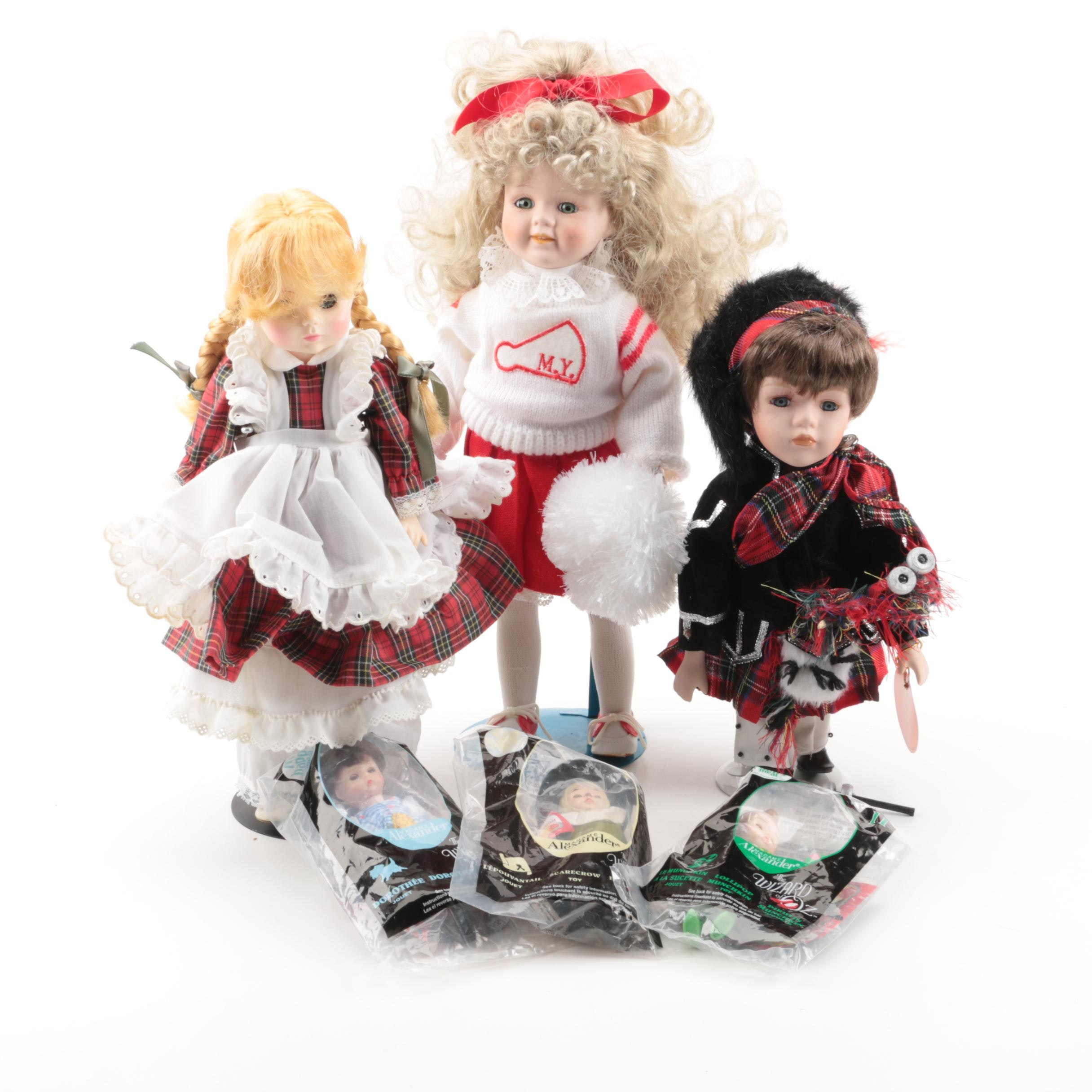 Ceramic and Porcelain Collectable Dolls Including Madame Alexander