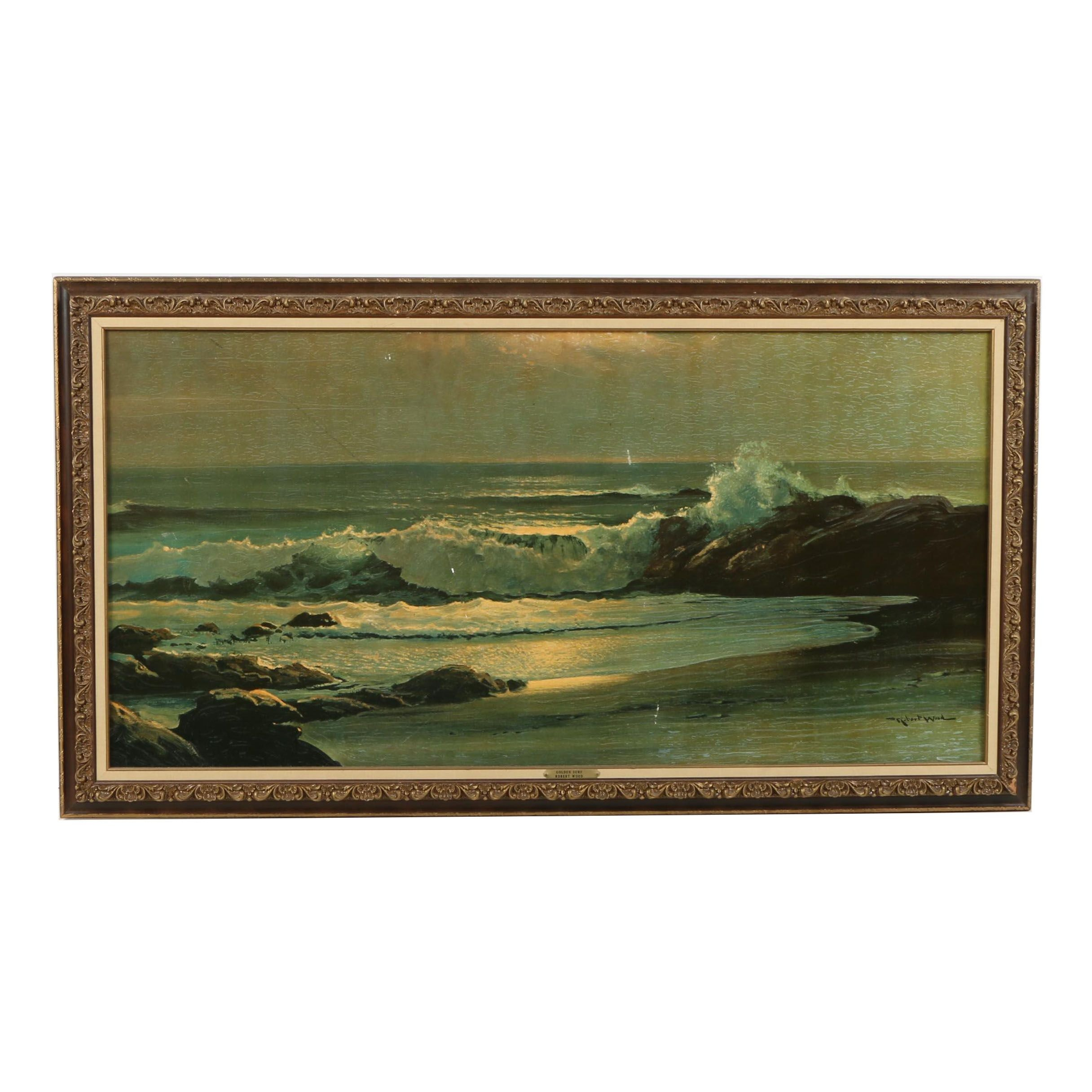 "Reproduction Print After Robert Wood ""Golden Surf"""