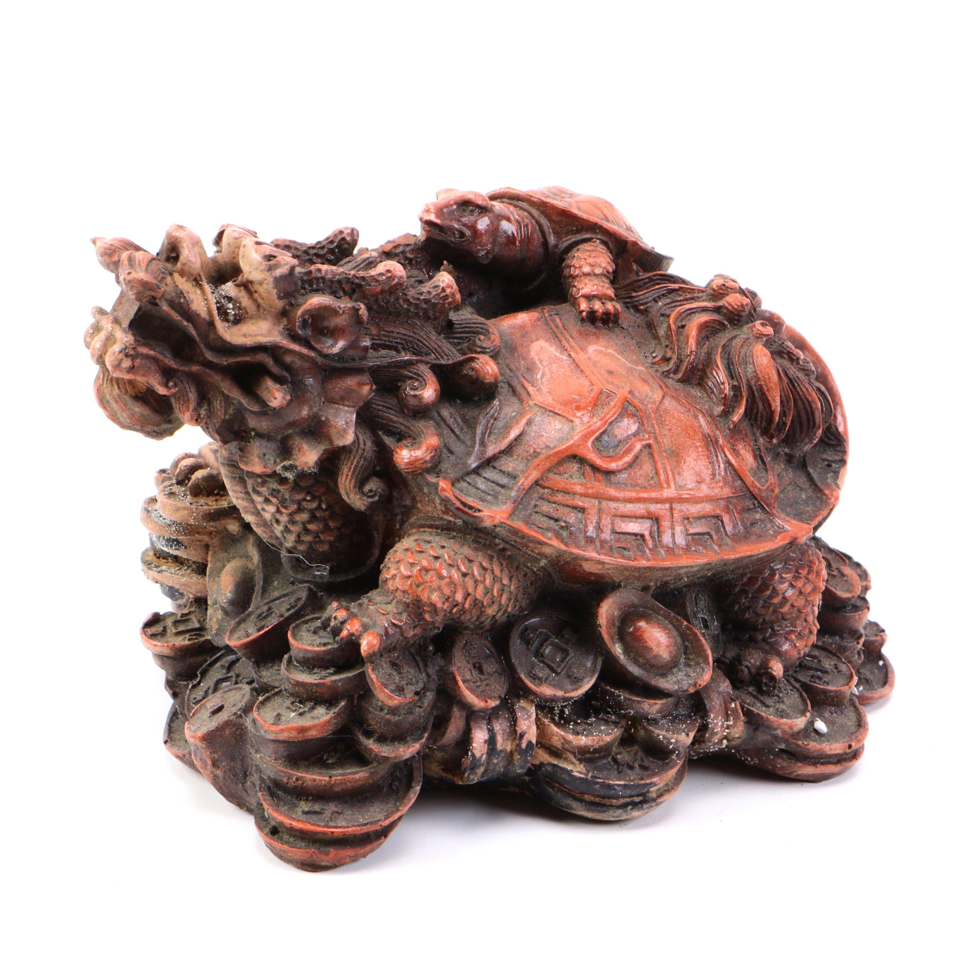 Chinese Dragon Turtle Figurine