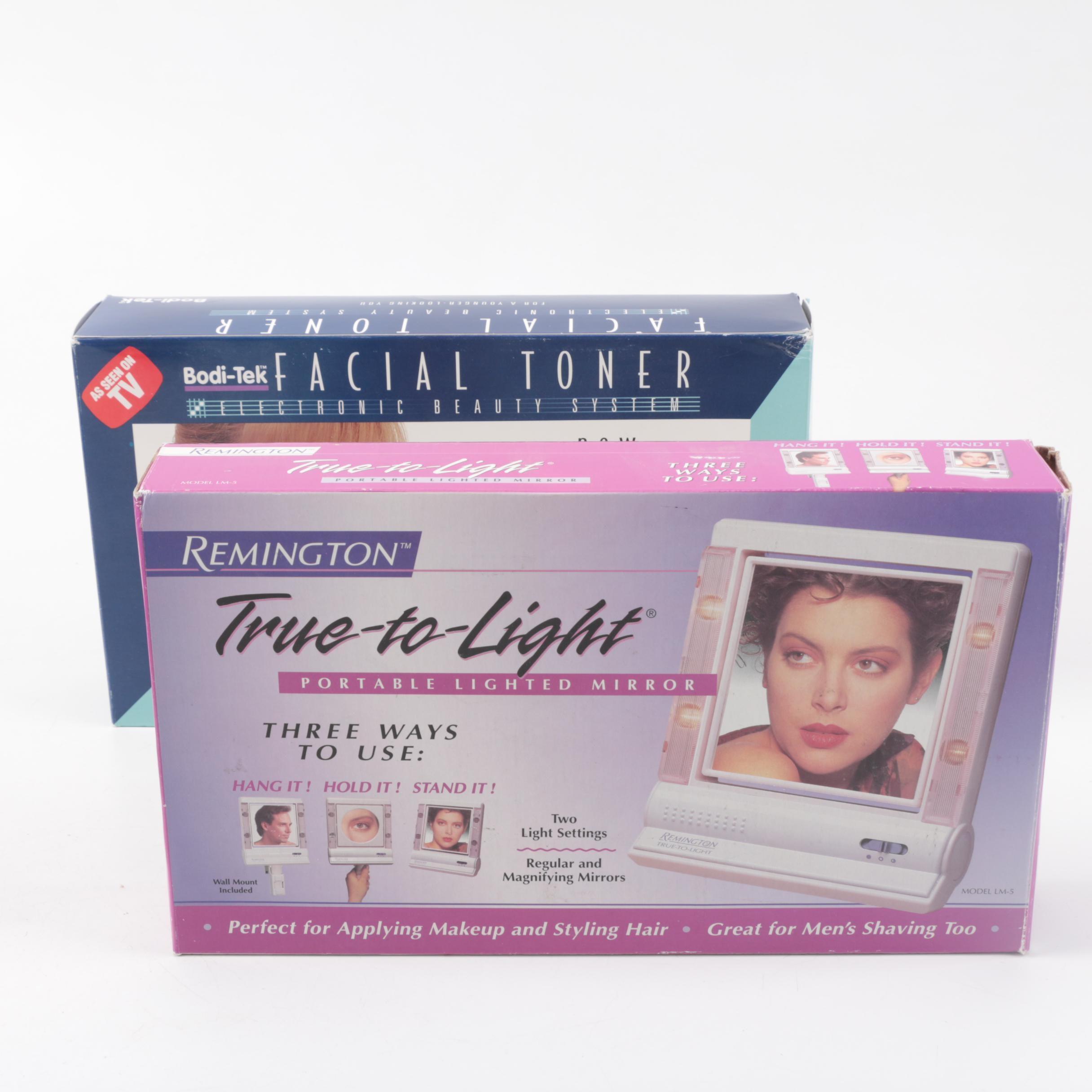 Remington True-To-Light Mirror and Bodi-Tek Facial Toner System