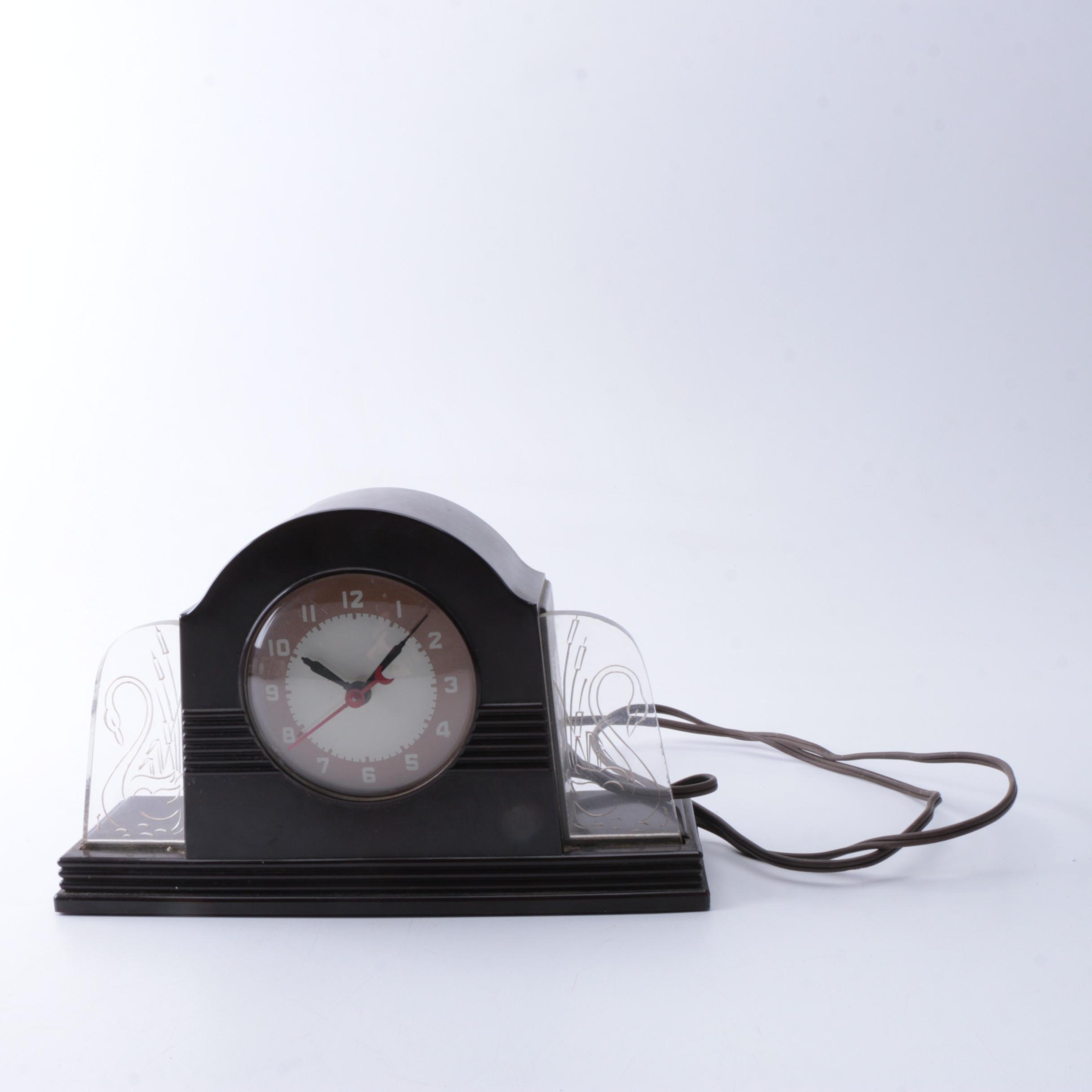 Lackner Art Deco Neon Clock