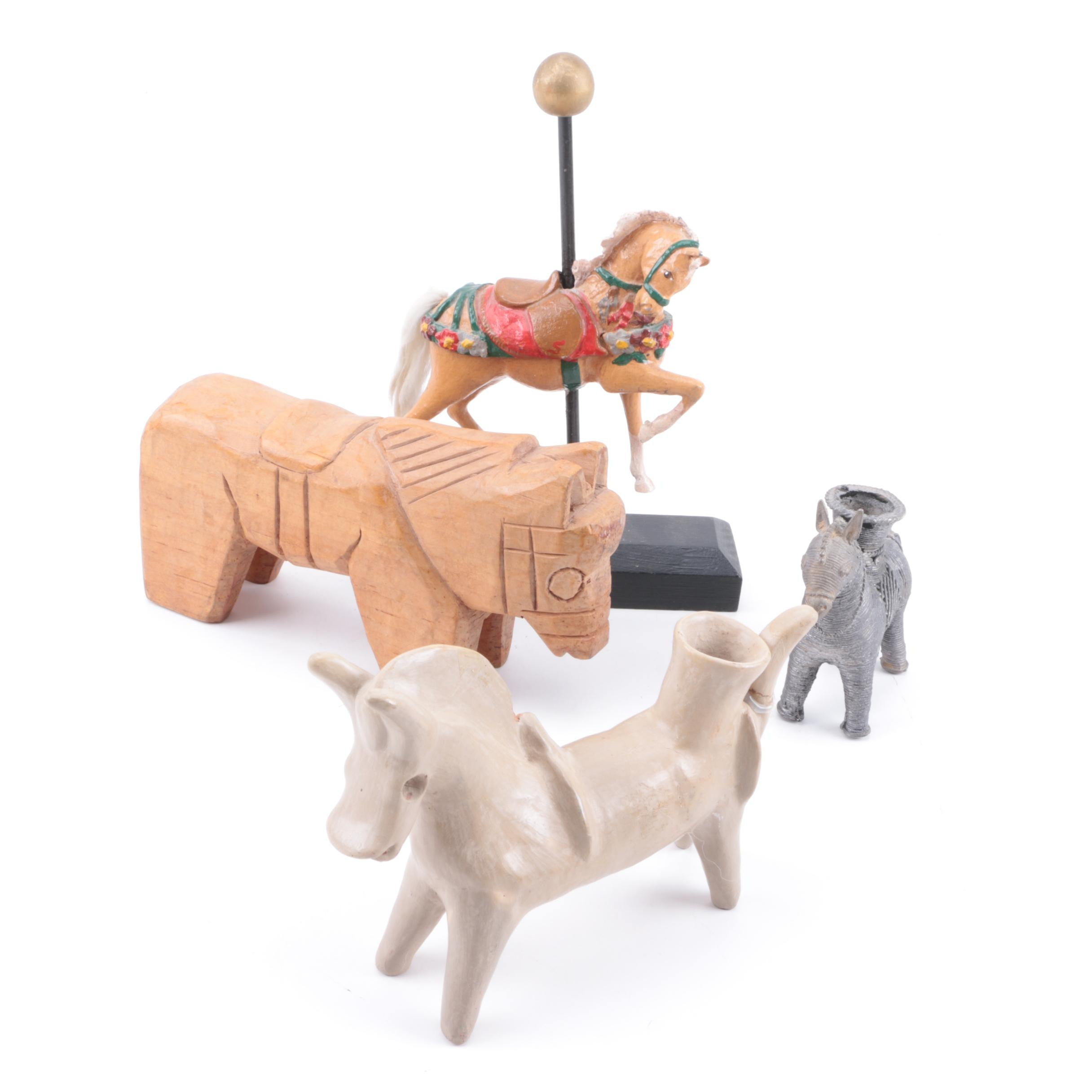 Collection of Horse Figurines