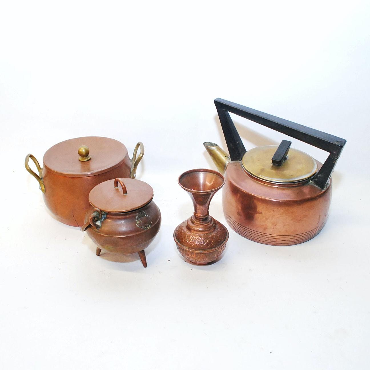 Copper Kitchenware Including Saint Louis