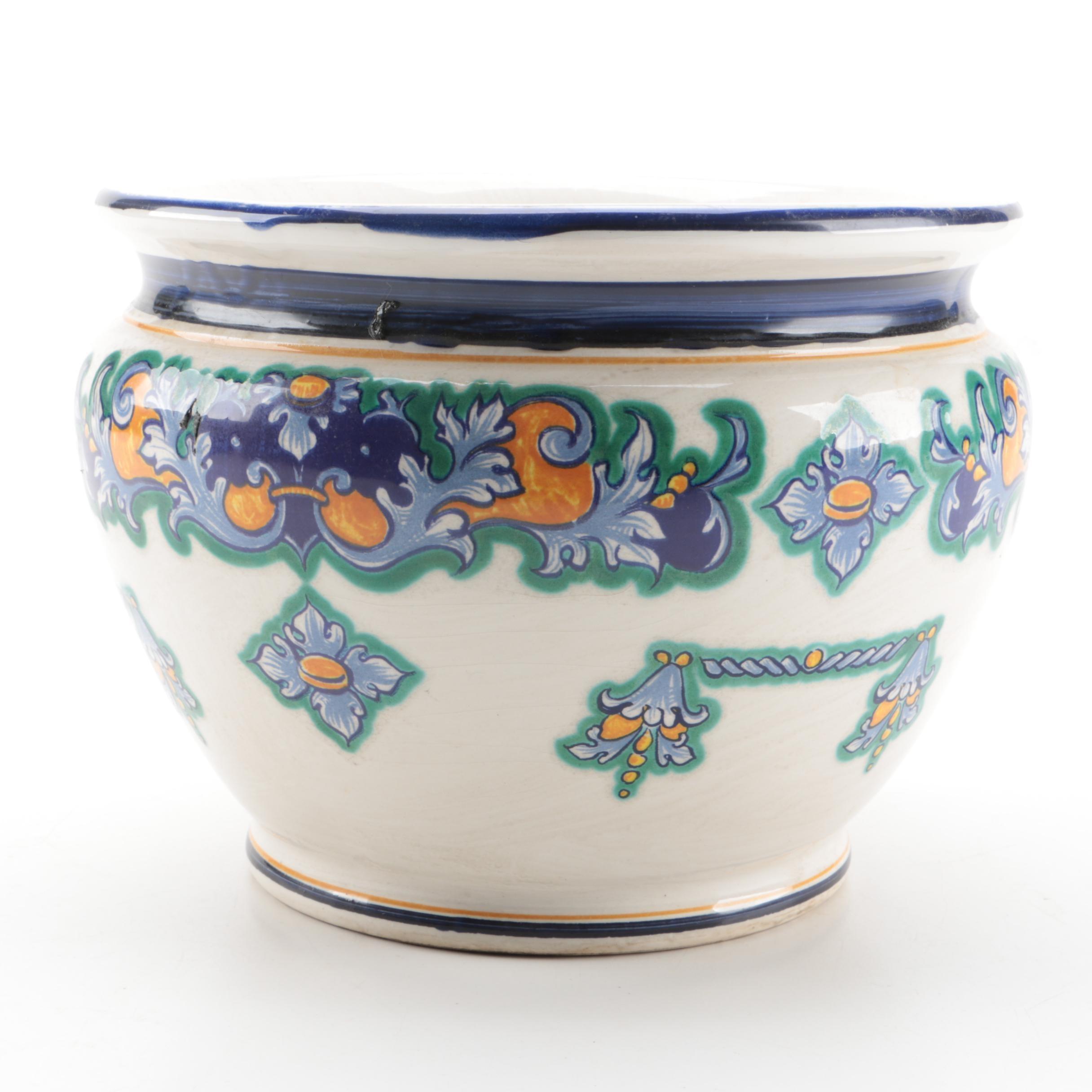 Facciolini Castelli Ceramic Jardinieire