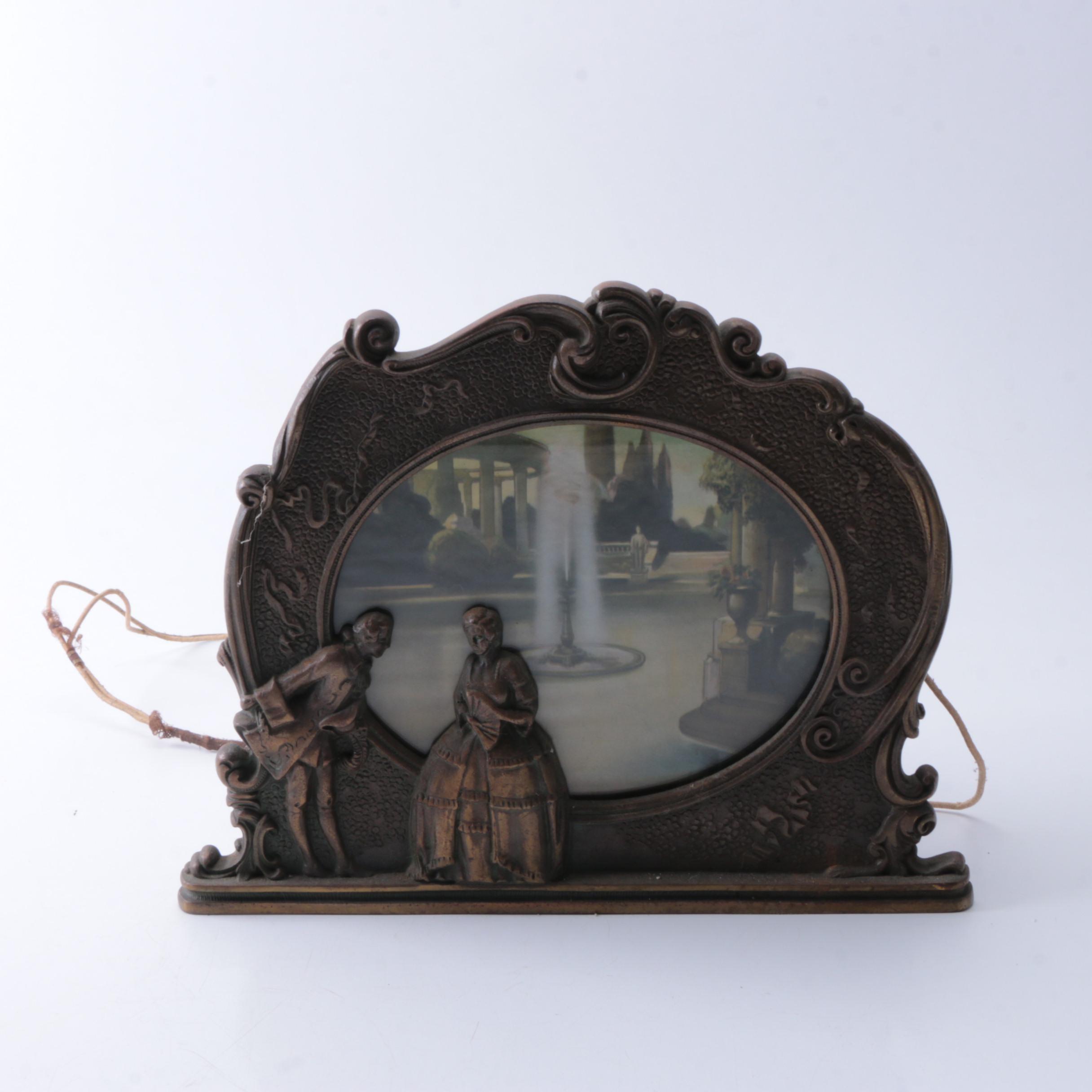 Antique Lighted Boudoir Lamp