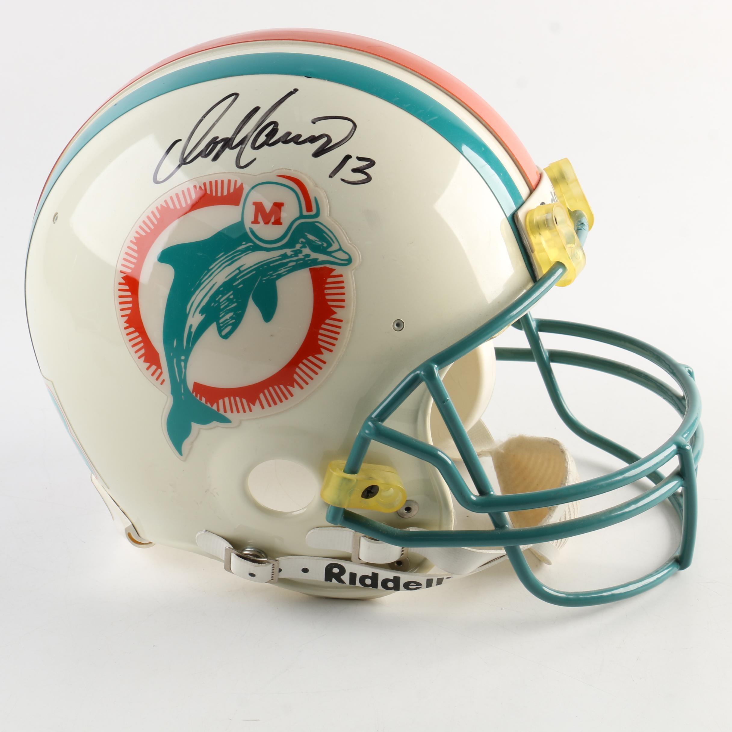 Autographed Dan Marino Miami Dolphins Football Helmet