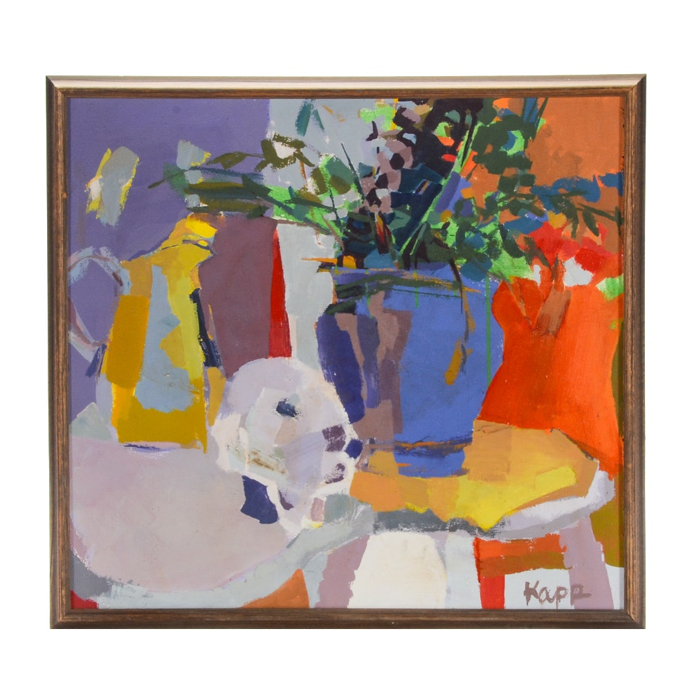 Kapp Abstract Oil Painting of a Still Life