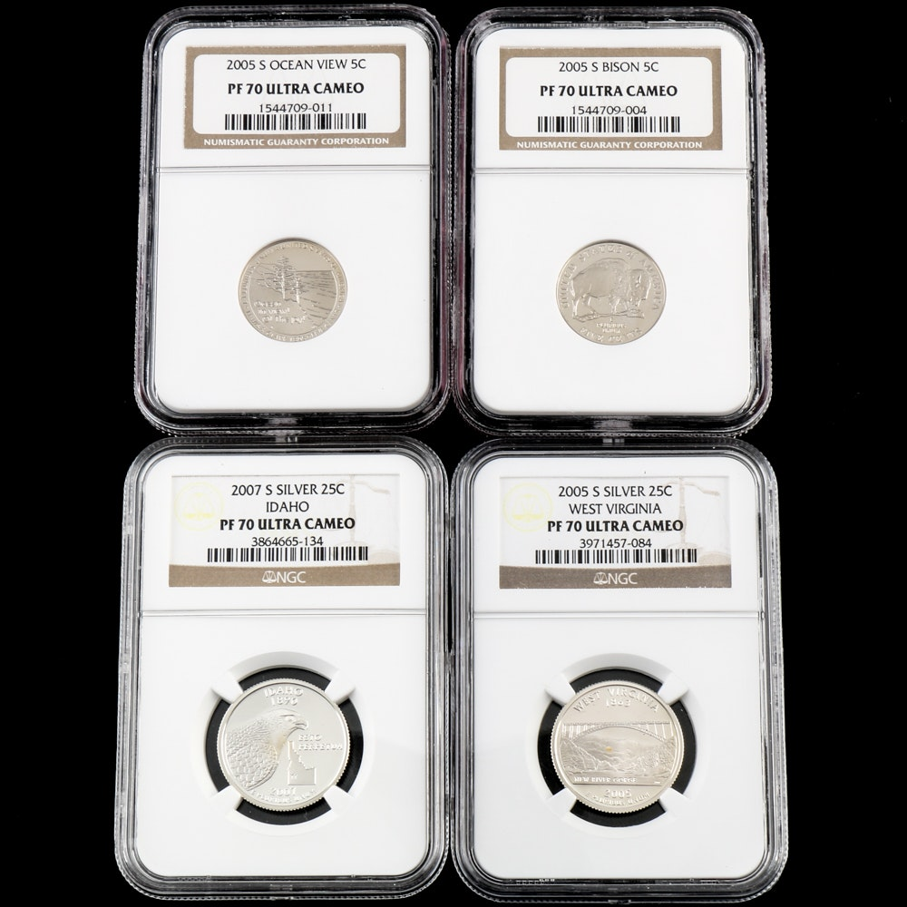 NGC PF 70 U.S. Coinage with Silver