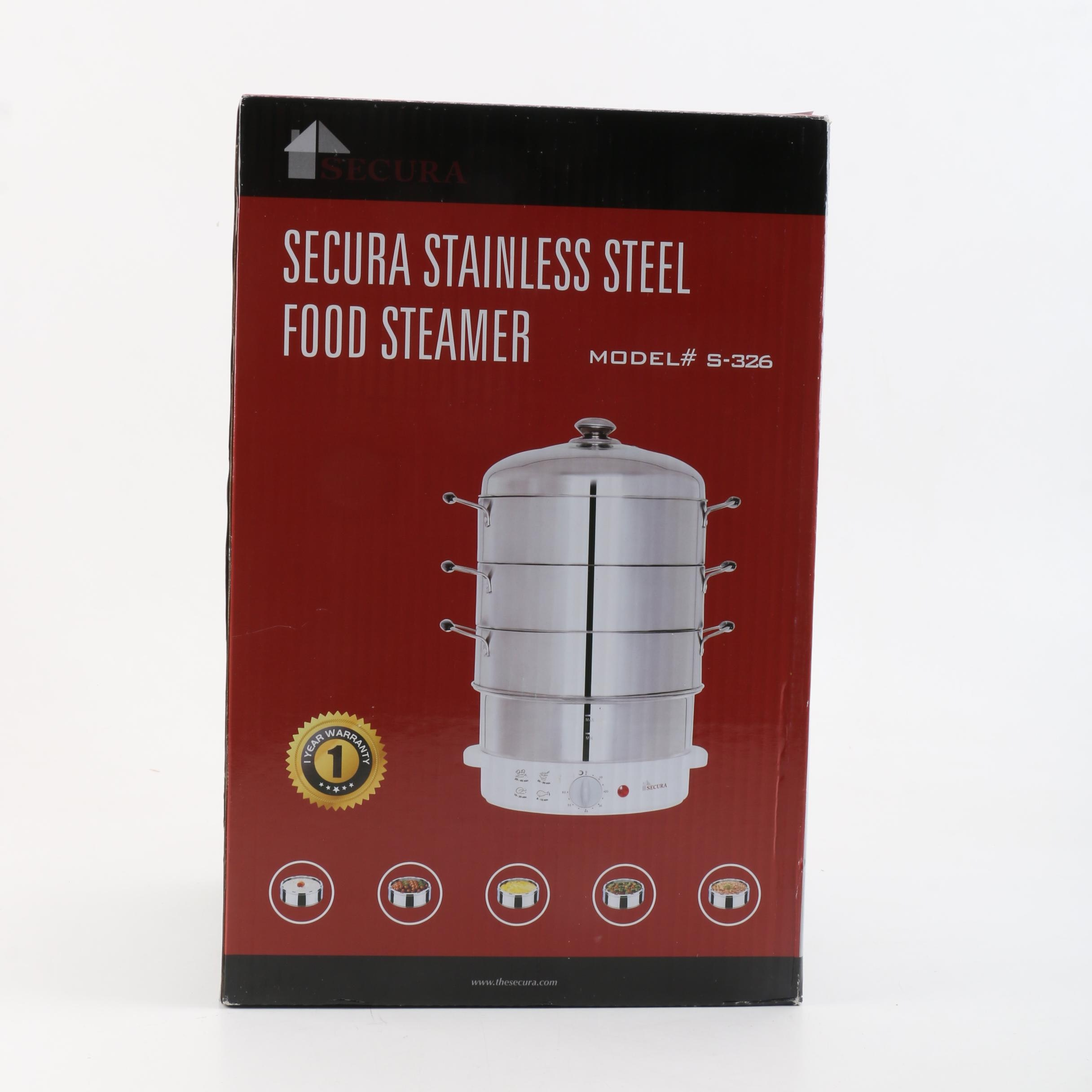 Secura Stainless Steel Food Steamer