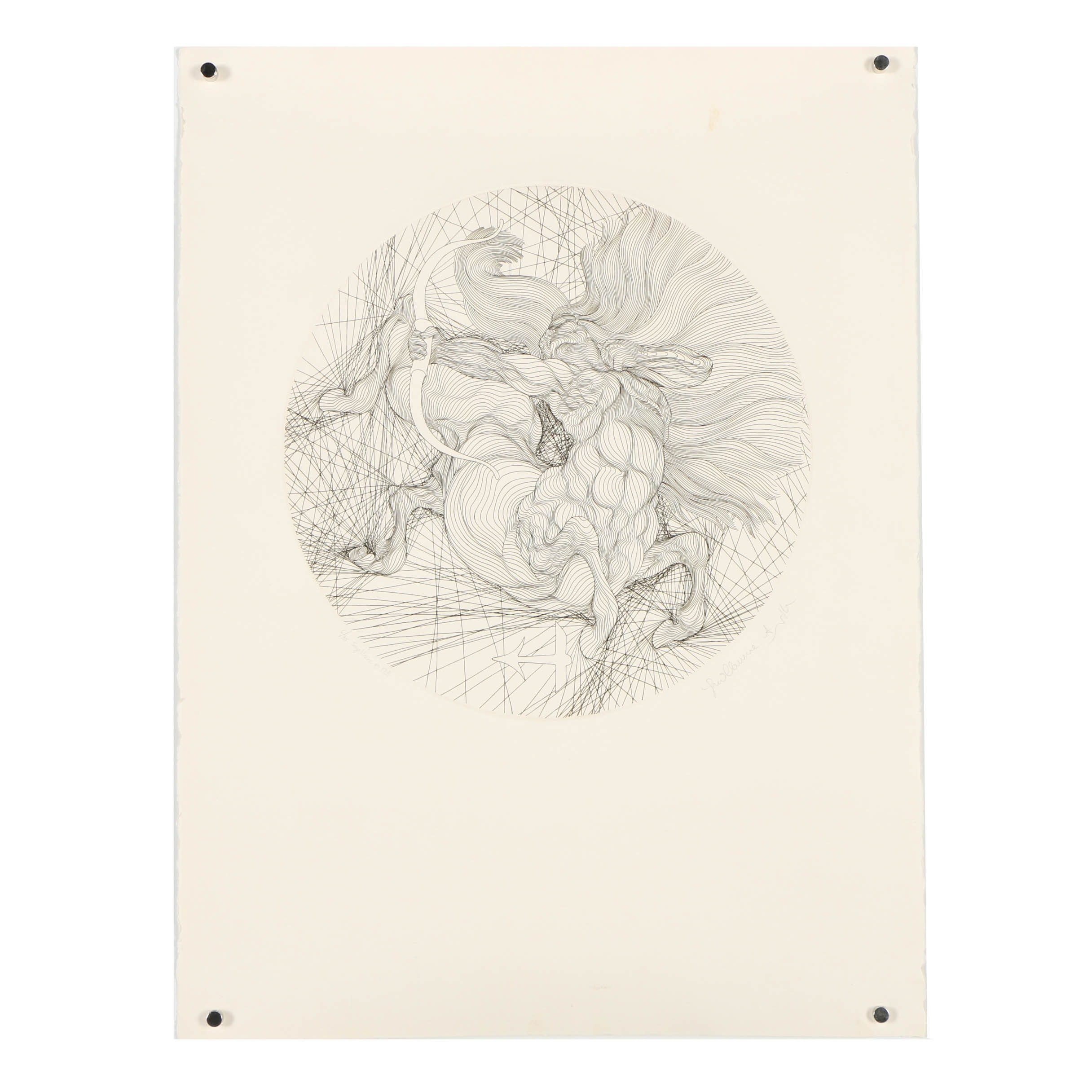 """Guillaume Azoulay Limited Edition Etching """"Sagittaire"""""""