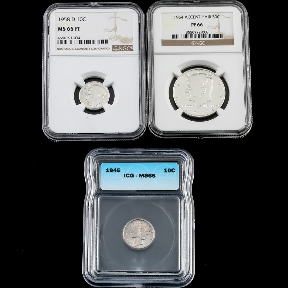 Three Graded United States Coins